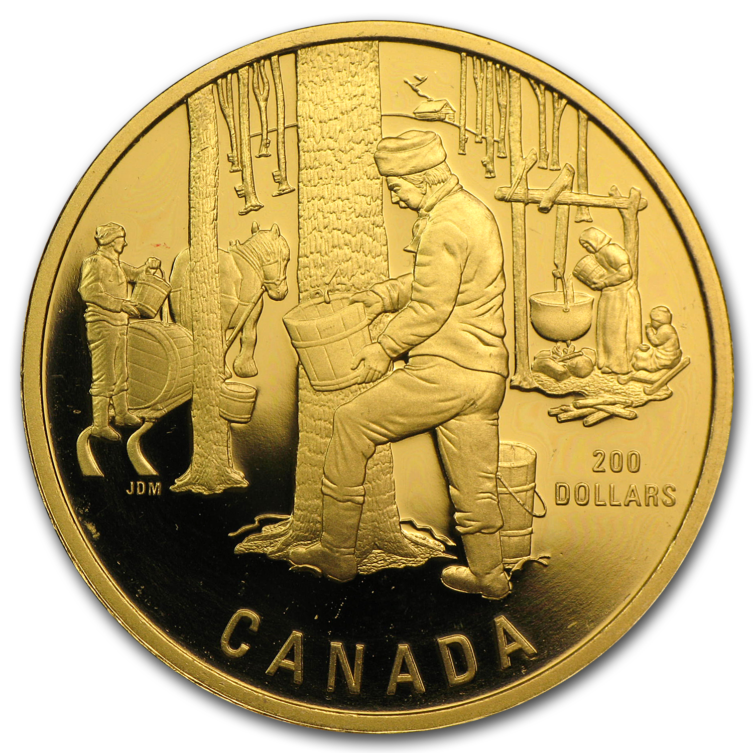 1990-2012 1/2 oz Gold Canadian $200 Proof (Impaired)