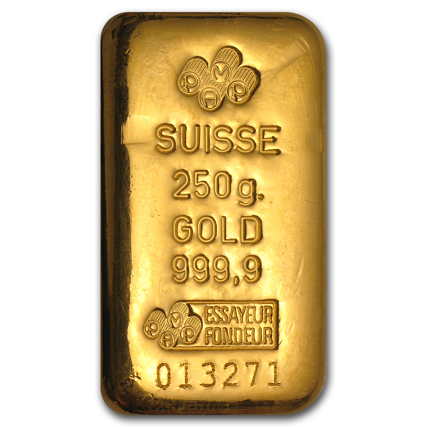 250 gram Gold Bar - Pamp Suisse (w/out Assay)