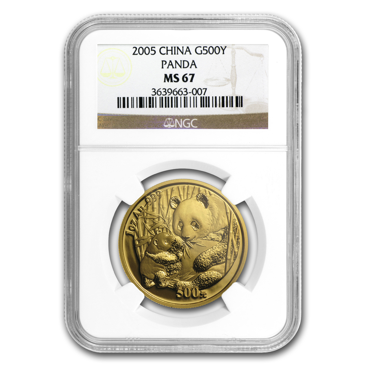 2005 1 oz Gold Chinese Panda MS-67 NGC