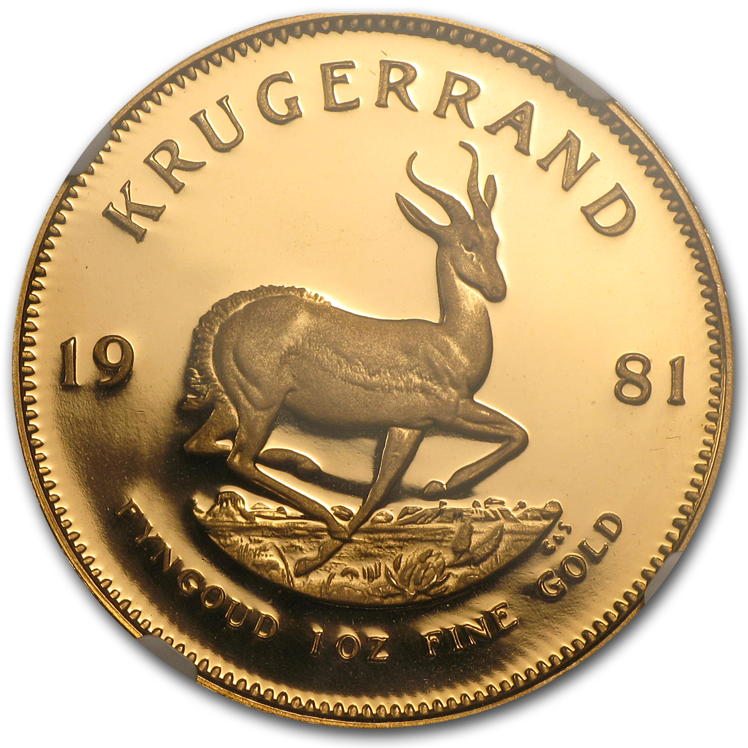 1981 1 oz Gold South African Krugerrand PF-67 UCAM NGC