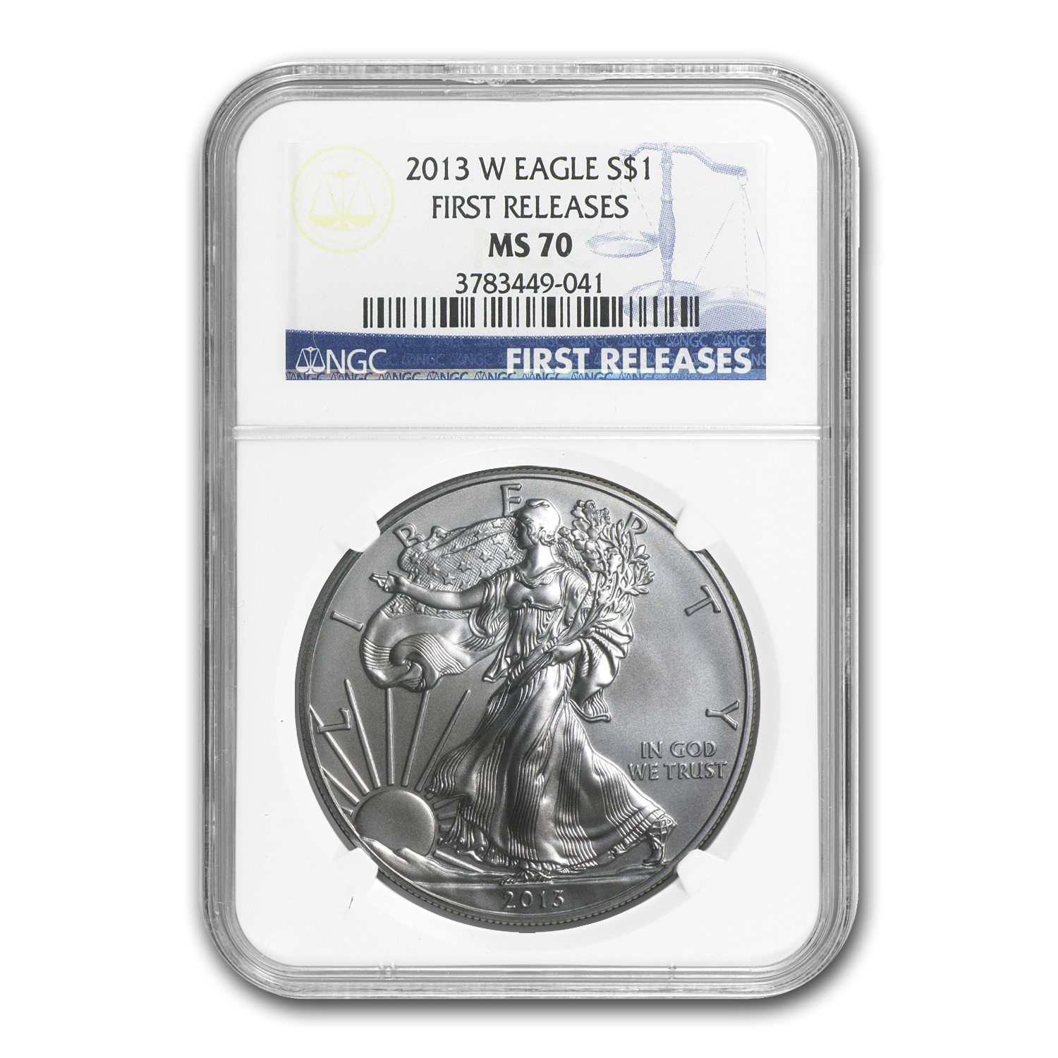 2013-W Burnished Silver Eagle MS-70 NGC (First Releases)
