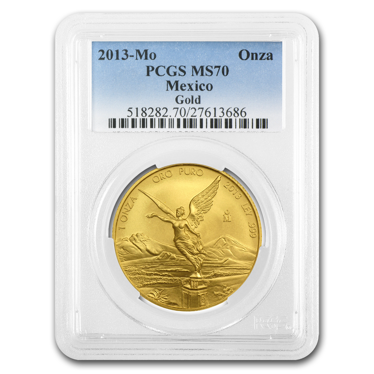 2013 1 oz Gold Mexican Libertad MS-70 PCGS