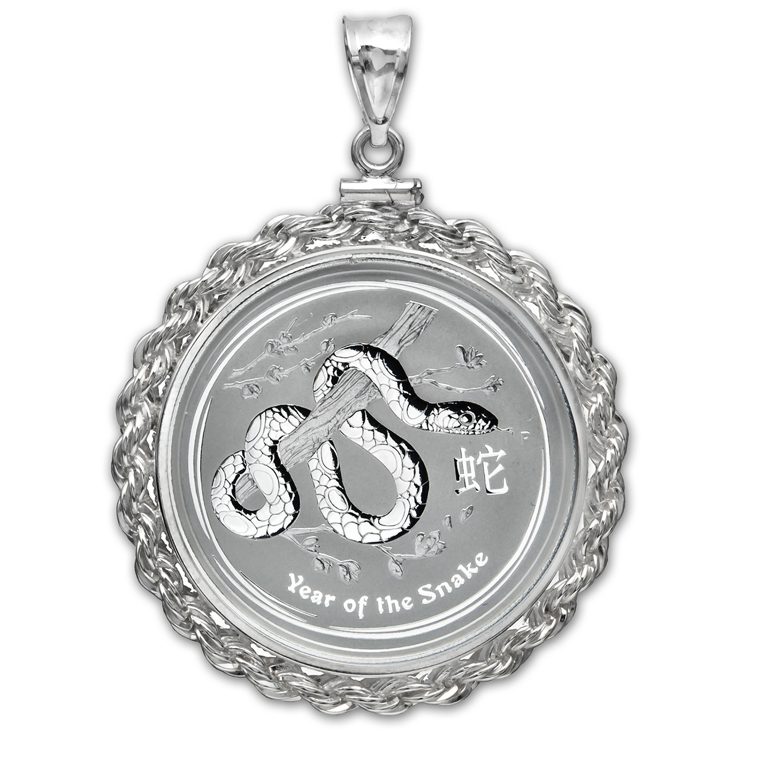 2013 1/2 oz Silver Snake Pendant (Screw-Top Rope Bezel)