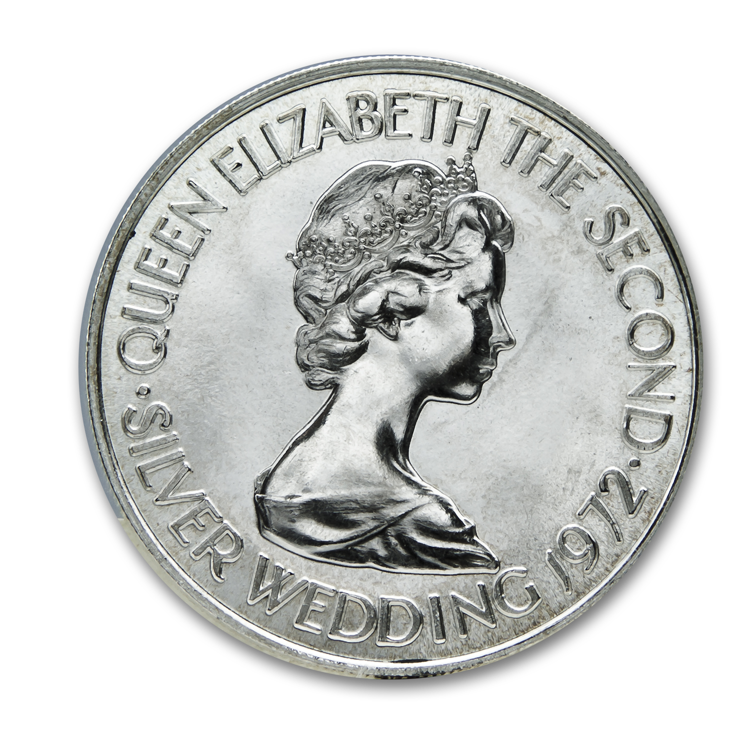 1972 Jersey Silver Pound 25th Anniversary