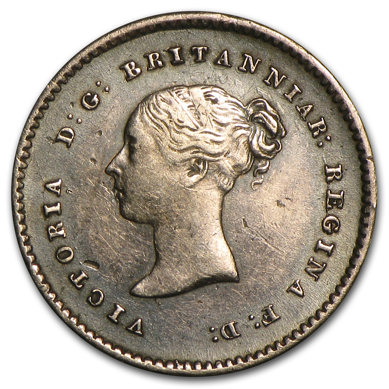 Great Britain 1838 Silver 2 Pence Victoria VF/EF