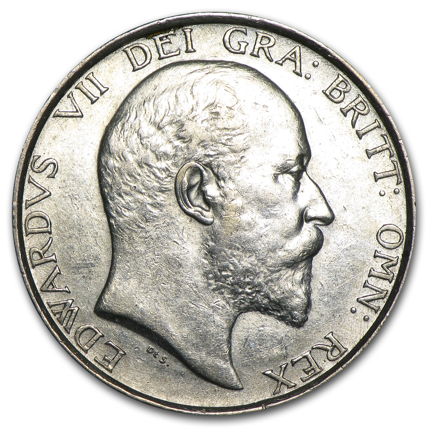 1902 Great Britain Silver Shilling Edward VII AU