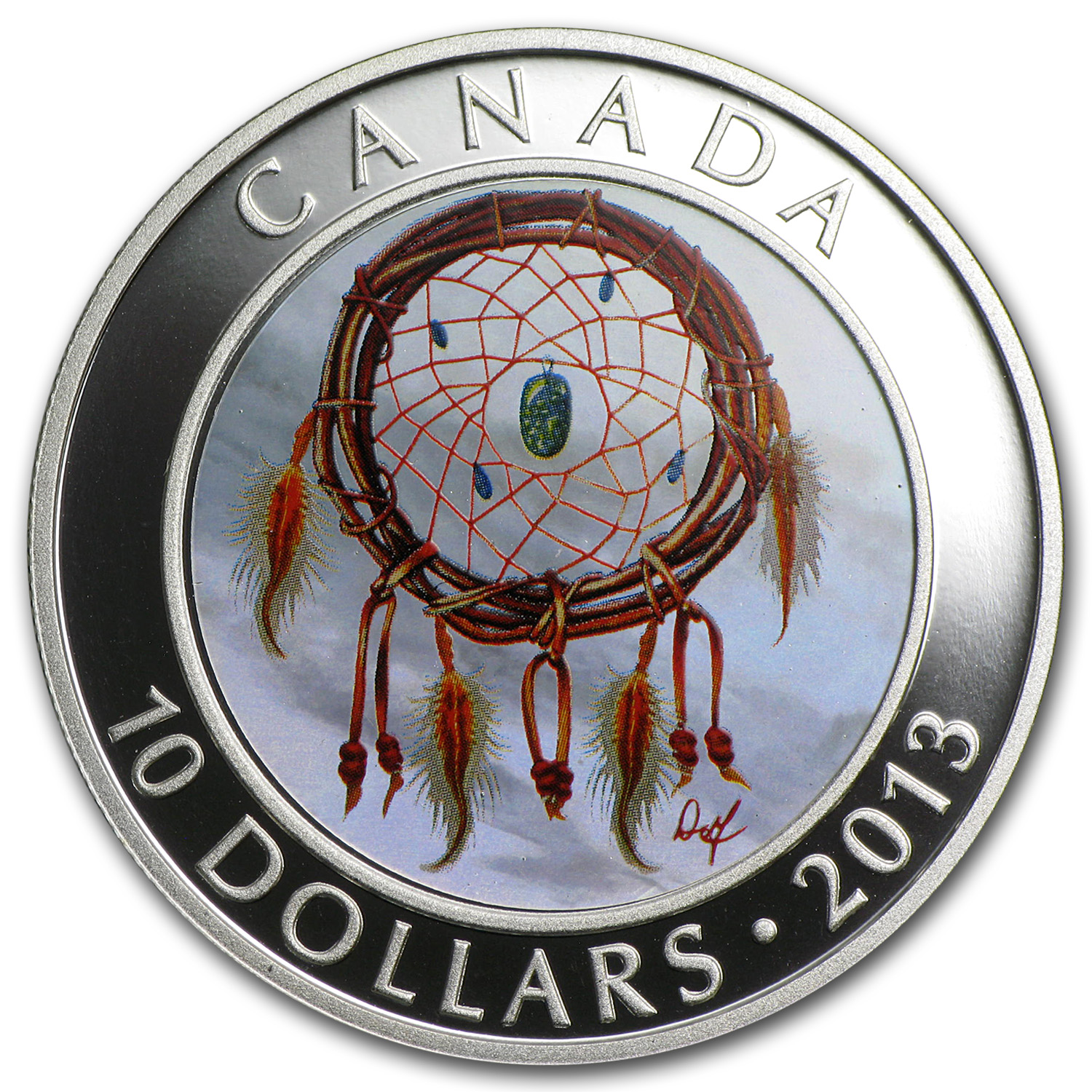 2013 1/2 oz Silver Canadian $10 Dreamcatcher (W/Box & COA)