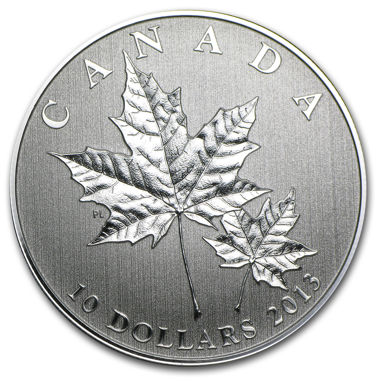 2013 1/2 oz Silver Canadian $10 Maple Leaf Forever (w/Box & COA)