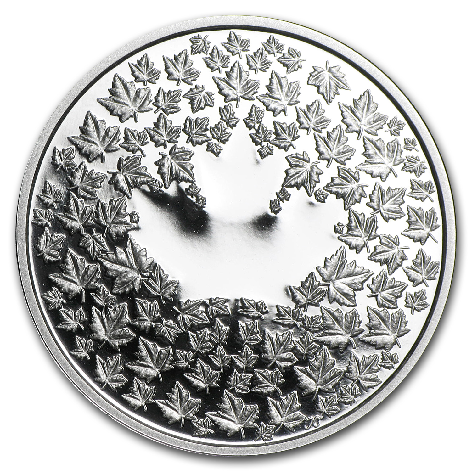 2013 Canada 1/4 oz Silver $3 Maple Leaf Impression