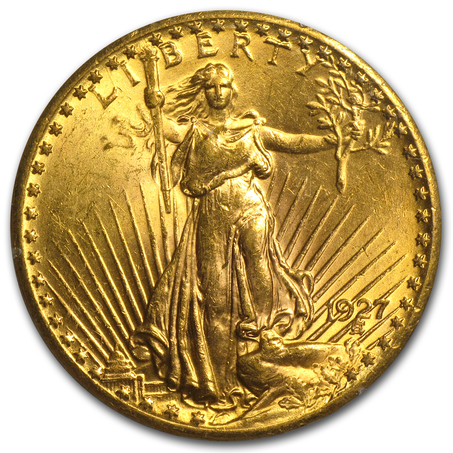 $20 Saint-Gaudens Gold Double Eagle MS-60 PCGS/NGC GOLD (CAC)