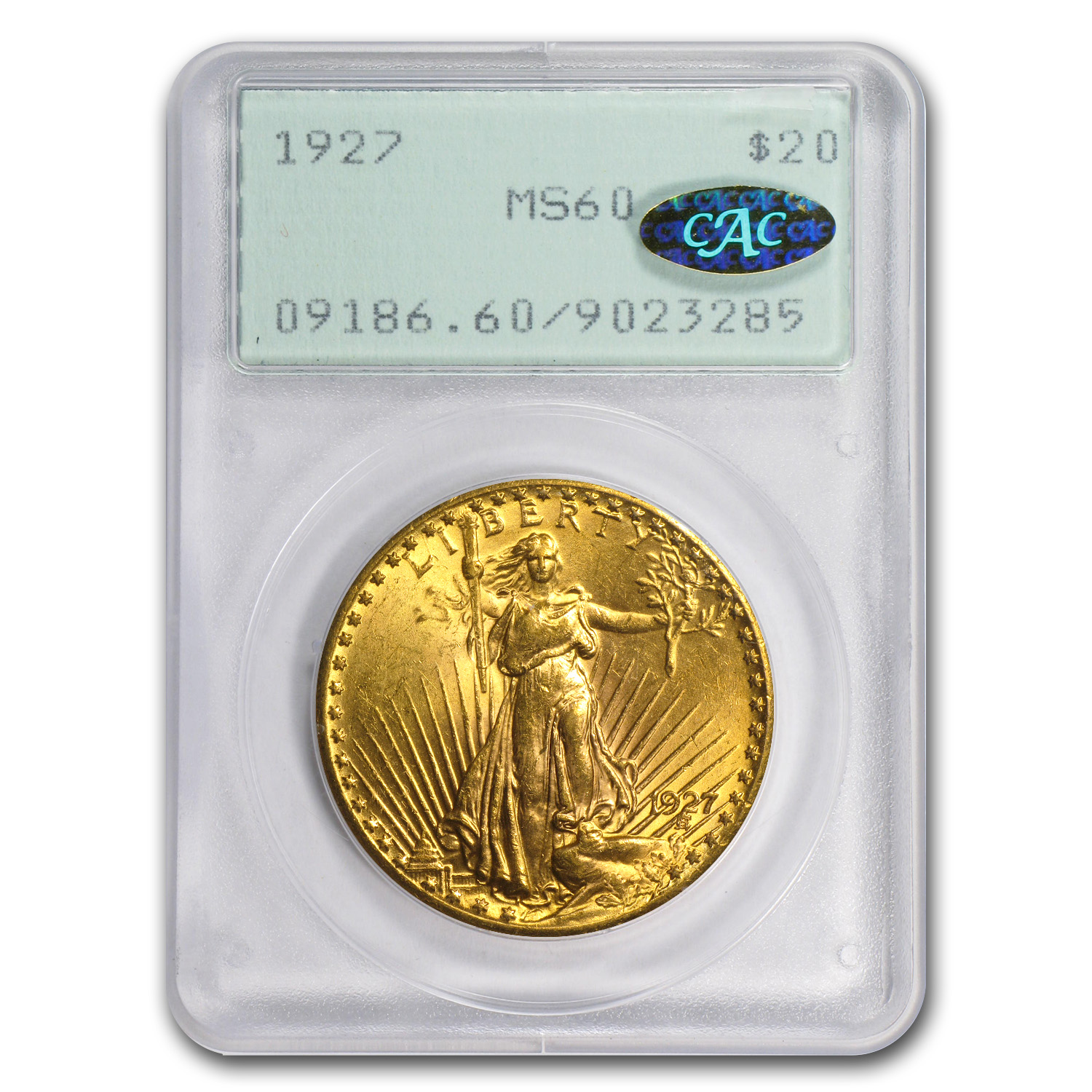 $20 Saint-Gaudens Gold Double Eagle MS-60 PCGS/NGC (CAC)