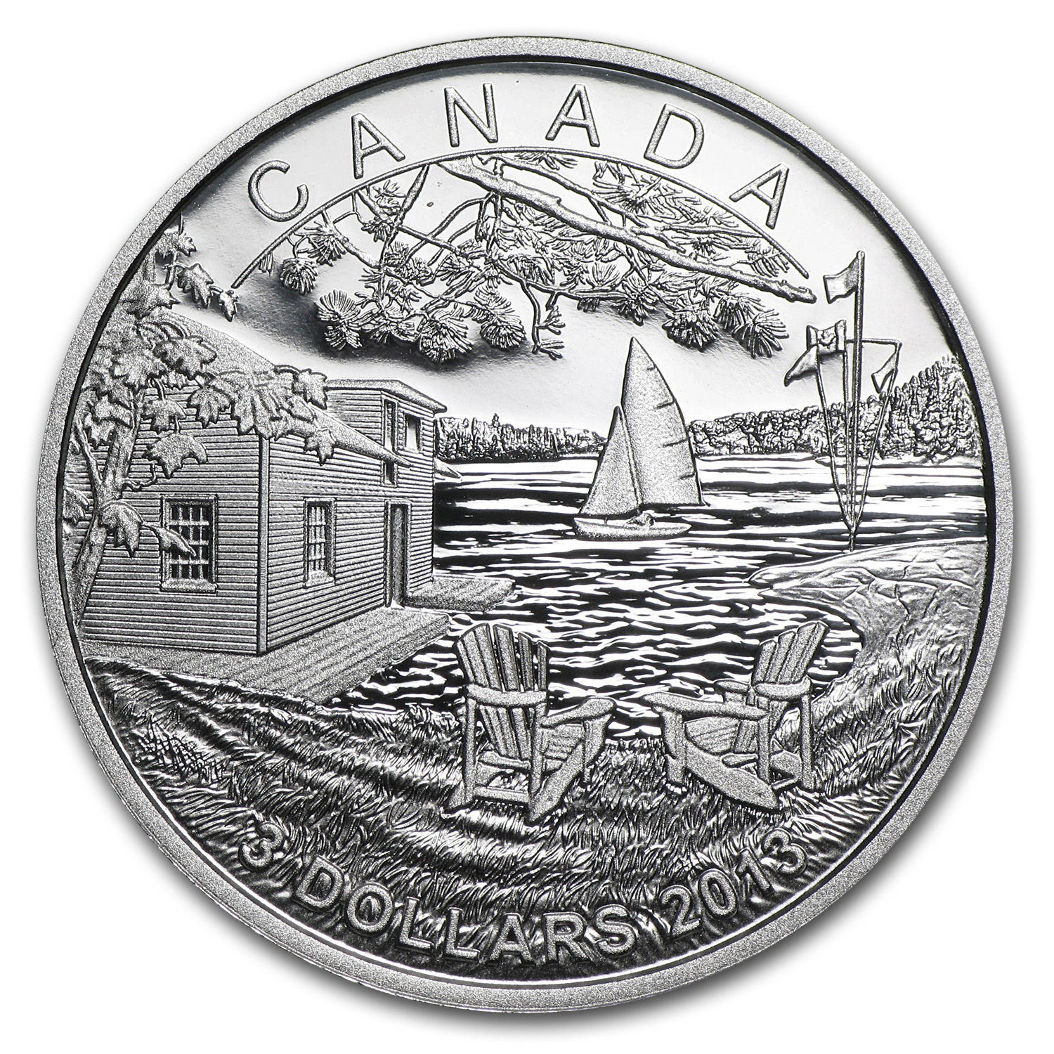 2013 1/4 oz Silver Canadian $3 - Martin Short Presents Canada