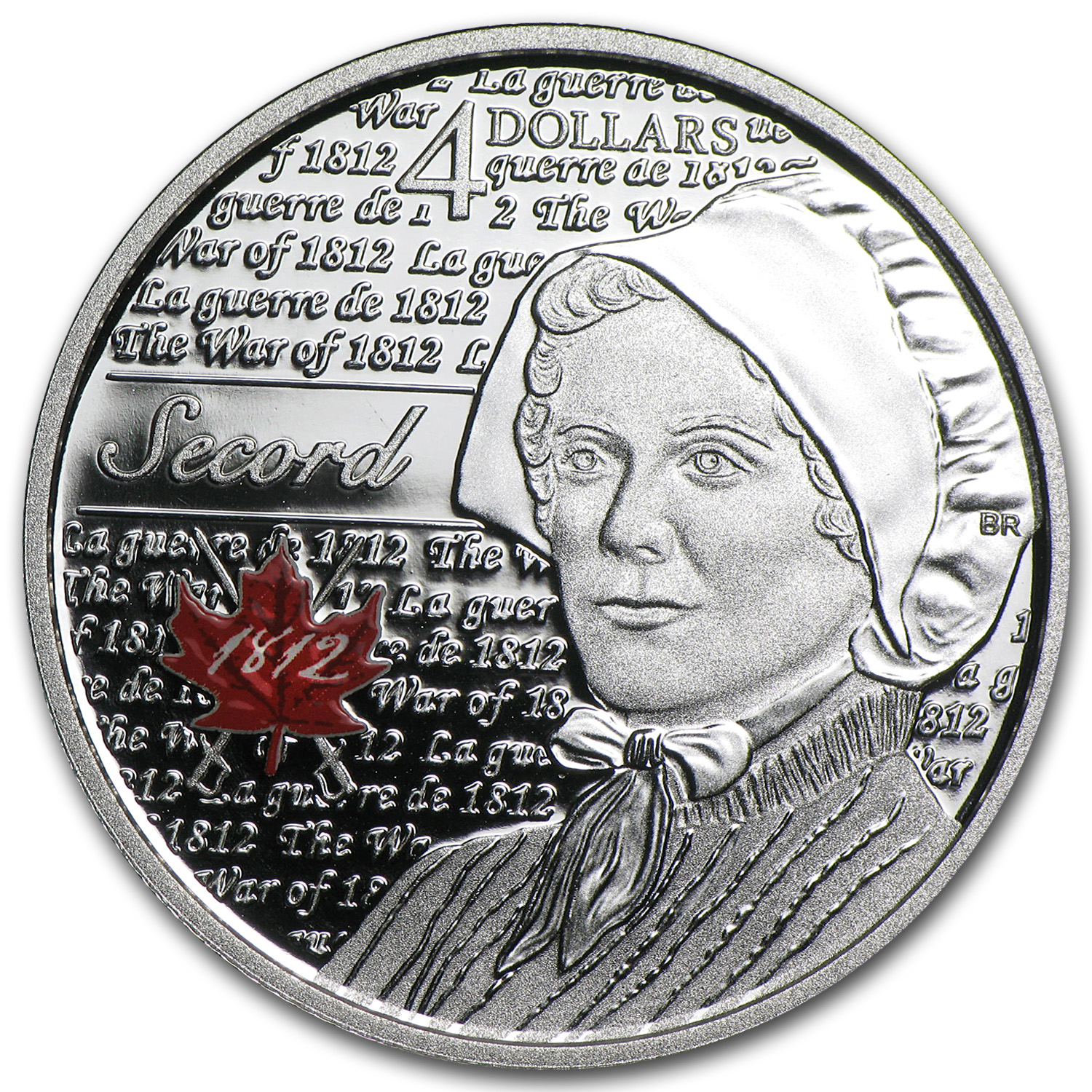 2013 Canada 1/4 oz Silver $4 Heroes of 1812 Laura Secord