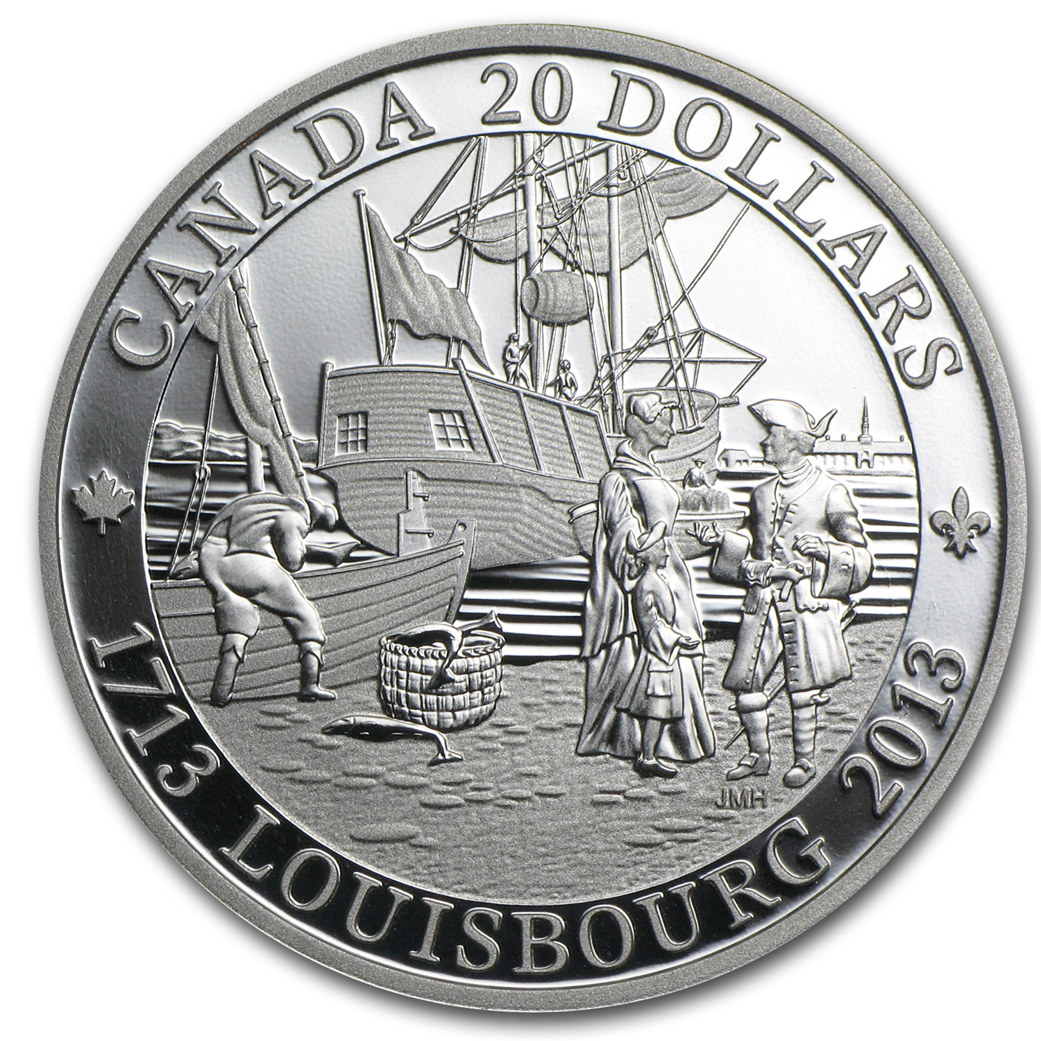2013 Canada 1 oz Silver $20 300th Anniversary of Louisbourg