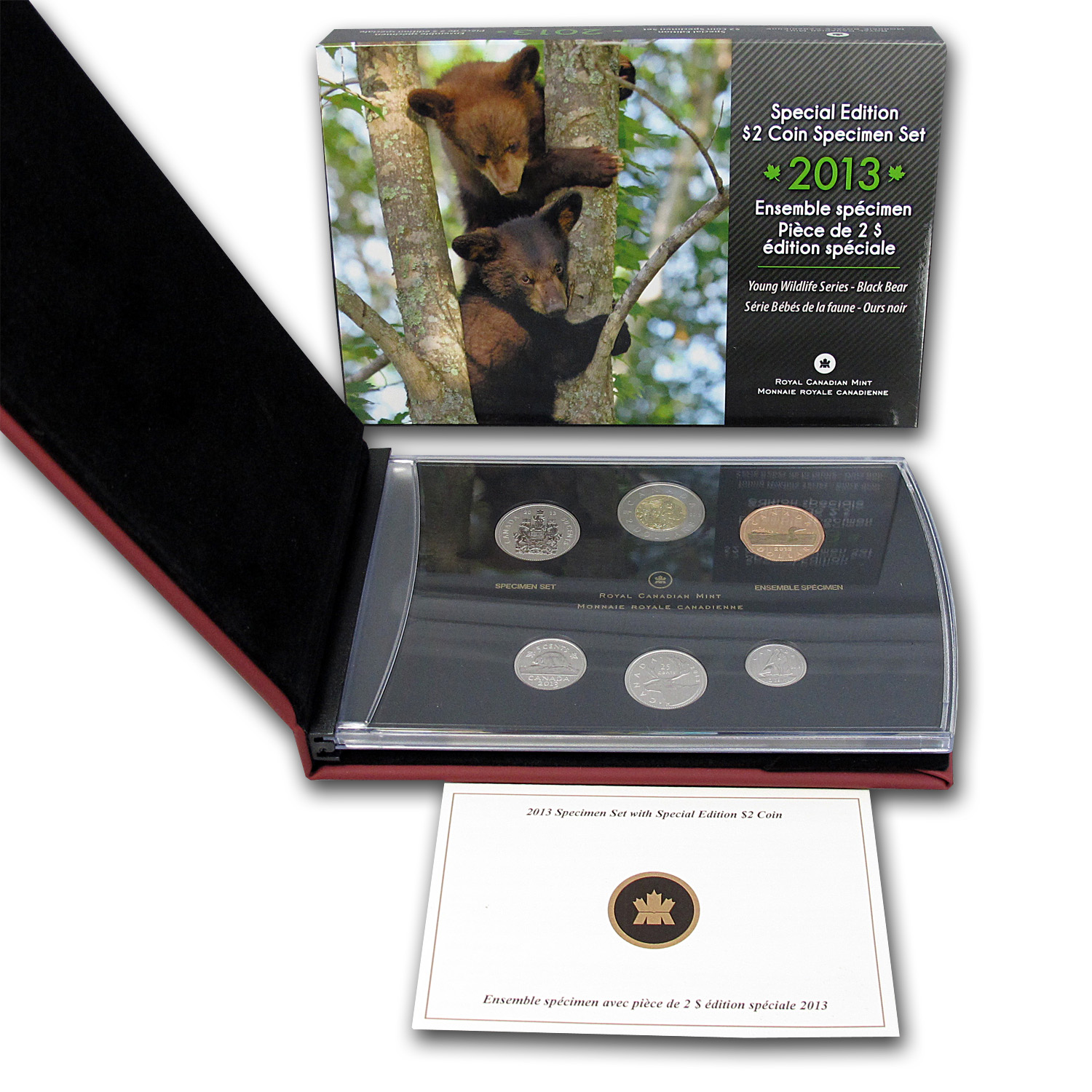 2013 6-Coin Special Edition $2 Specimen Set (Black Bear Cubs)
