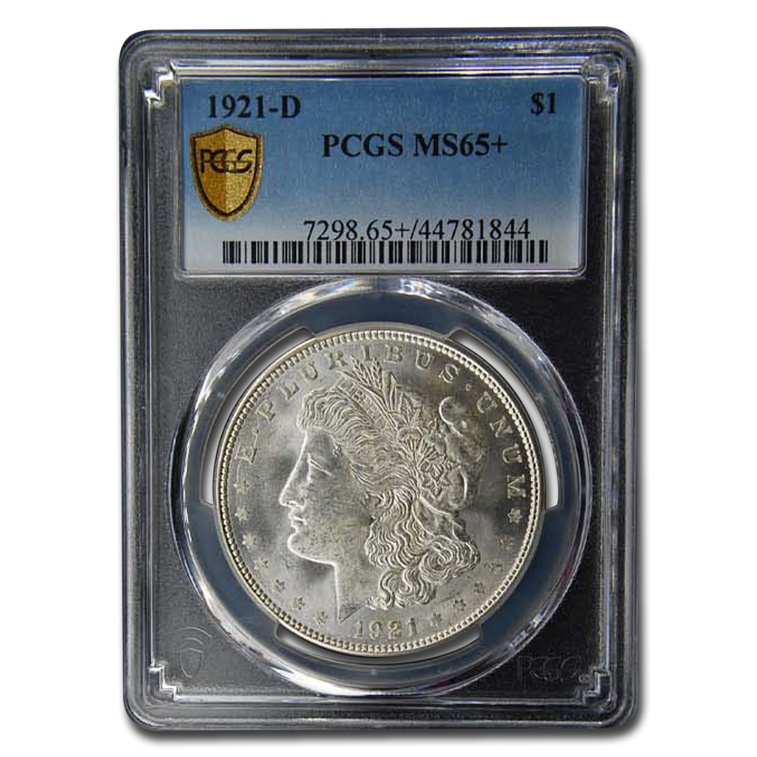 1921-D Morgan Dollar MS-65+ PCGS
