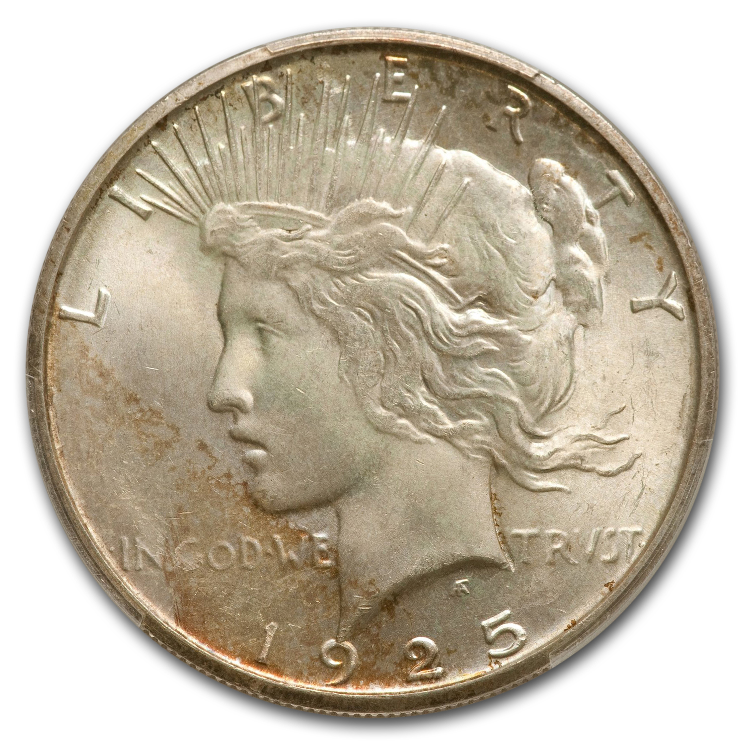 1925-S Peace Dollar MS-64+ Plus PCGS - CAC