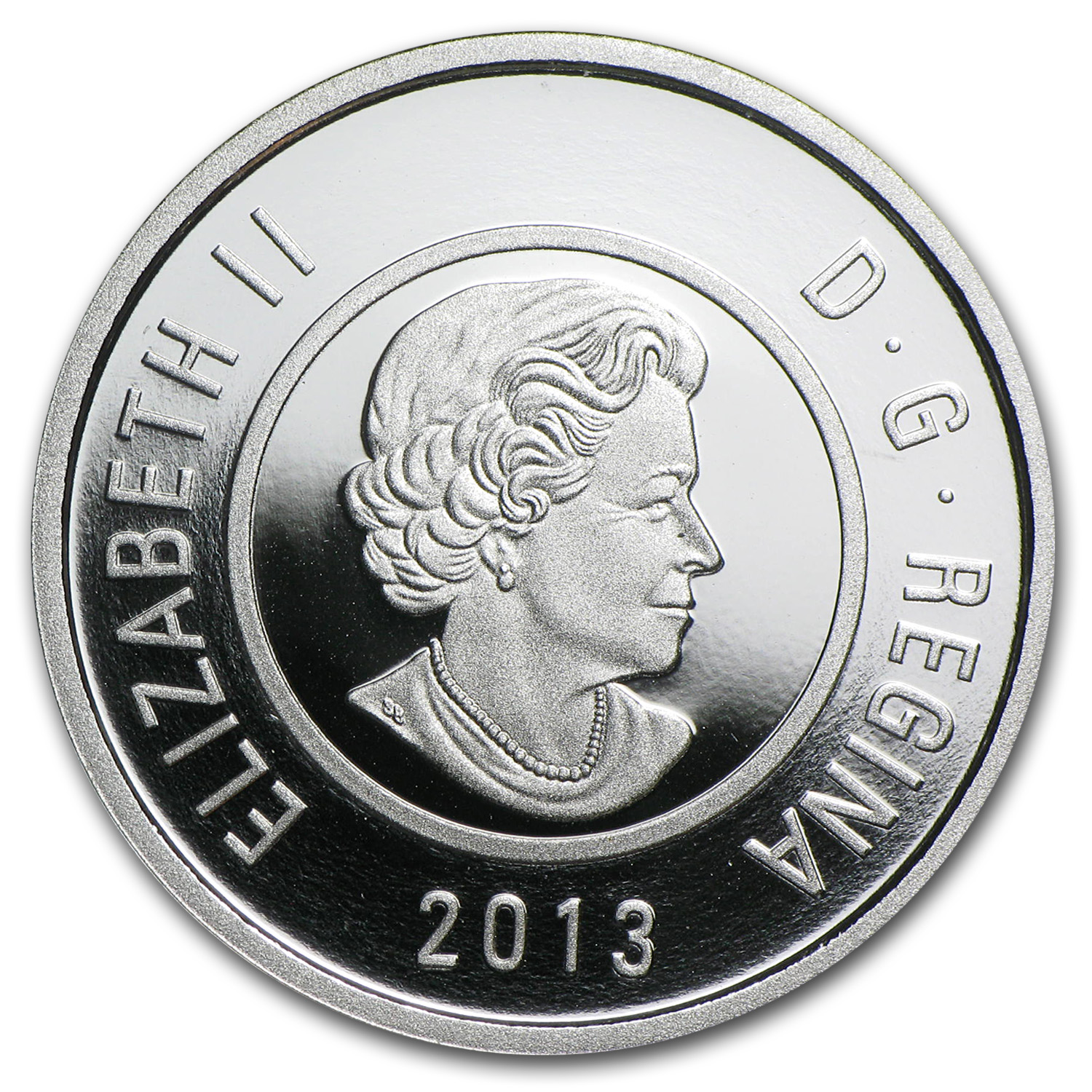 2013 Canada Silver & Niobium $5 Mother and Baby Ice Fishing