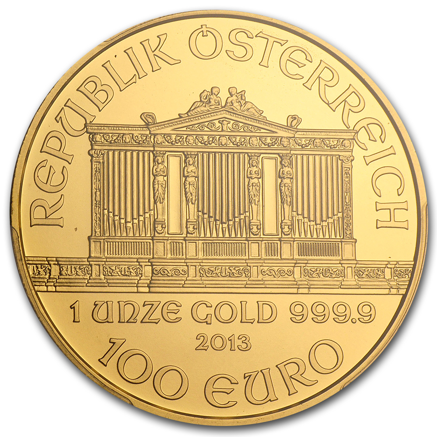 2013 1 oz Gold Austrian Philharmonic MS-69 PCGS