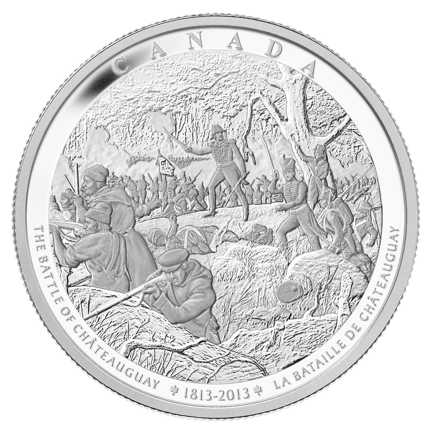 2013 Kilo Silver Canadian $250 War of 1812 -Battle of Chateauguay