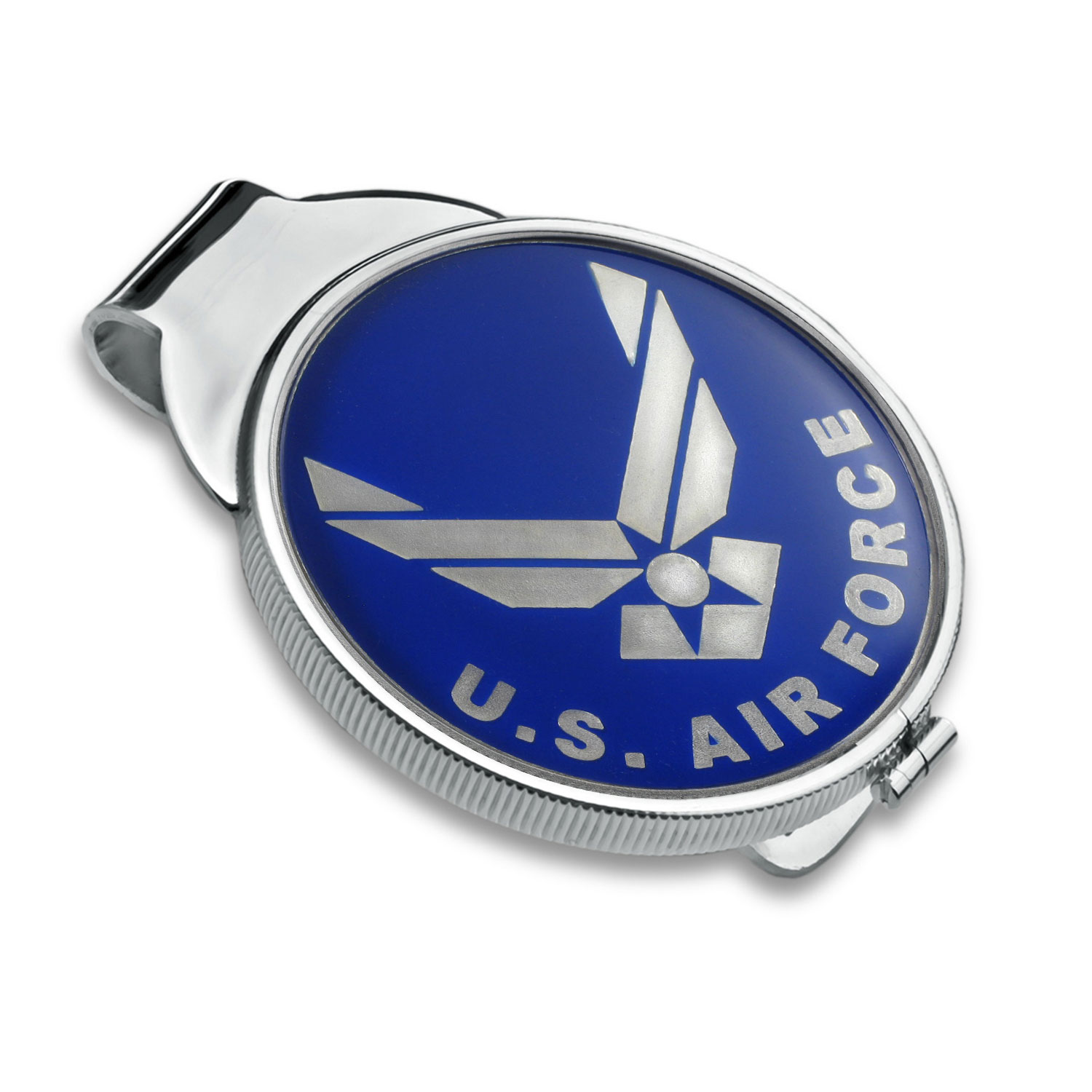 U.S. Air Force Enameled Silver Round - Money Clip (Silvertone)