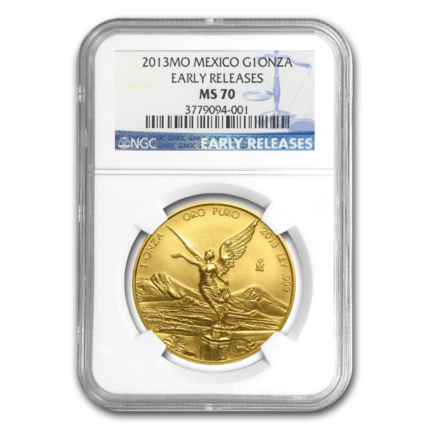 2013 1 oz Gold Mexican Libertad MS-70 NGC (ER)