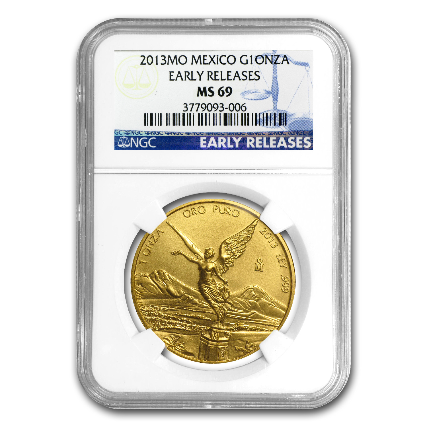 2013 Mexico 1 oz Gold Libertad MS-69 NGC (ER)