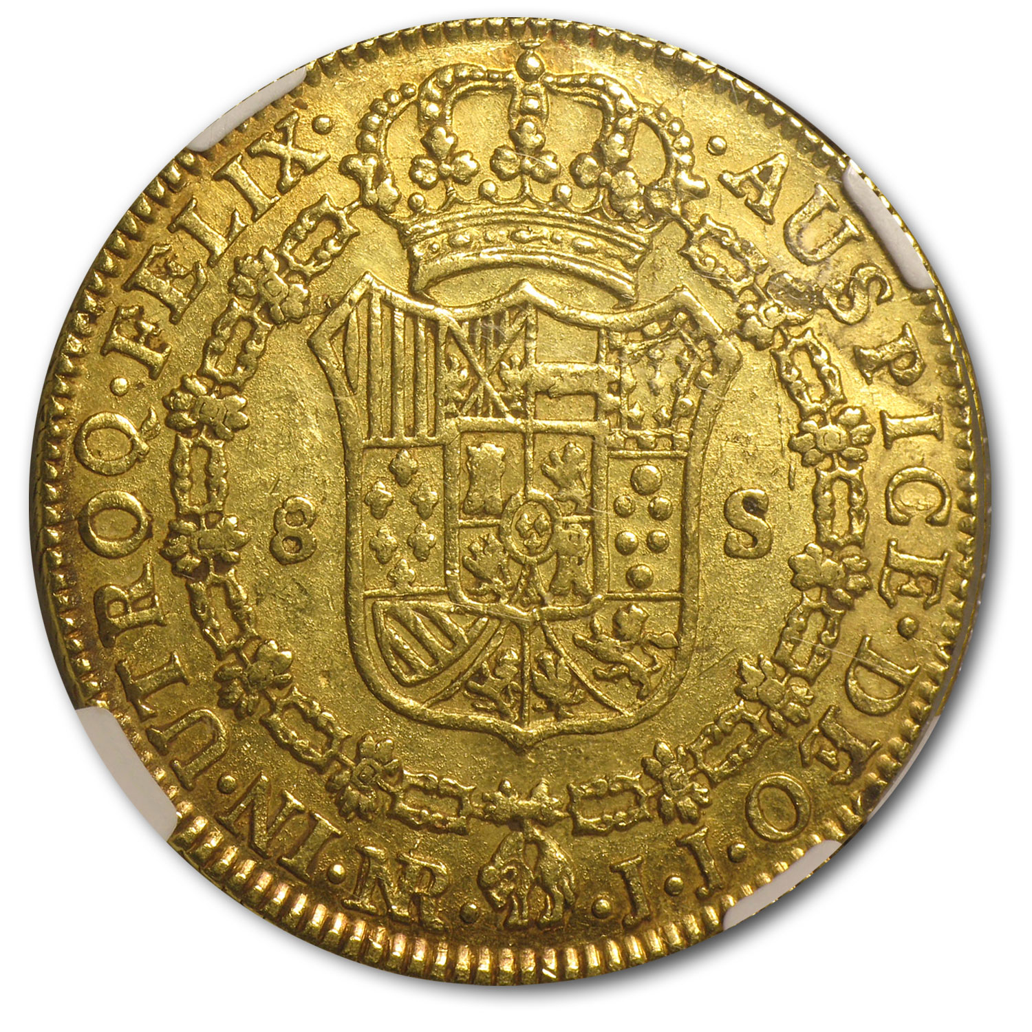 Colombia 1787 Gold 8 Escudo Charles III NGC AU-58