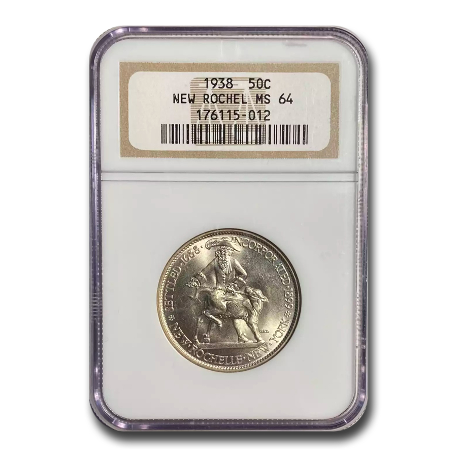 1938 New Rochelle Half Dollar MS-64 NGC