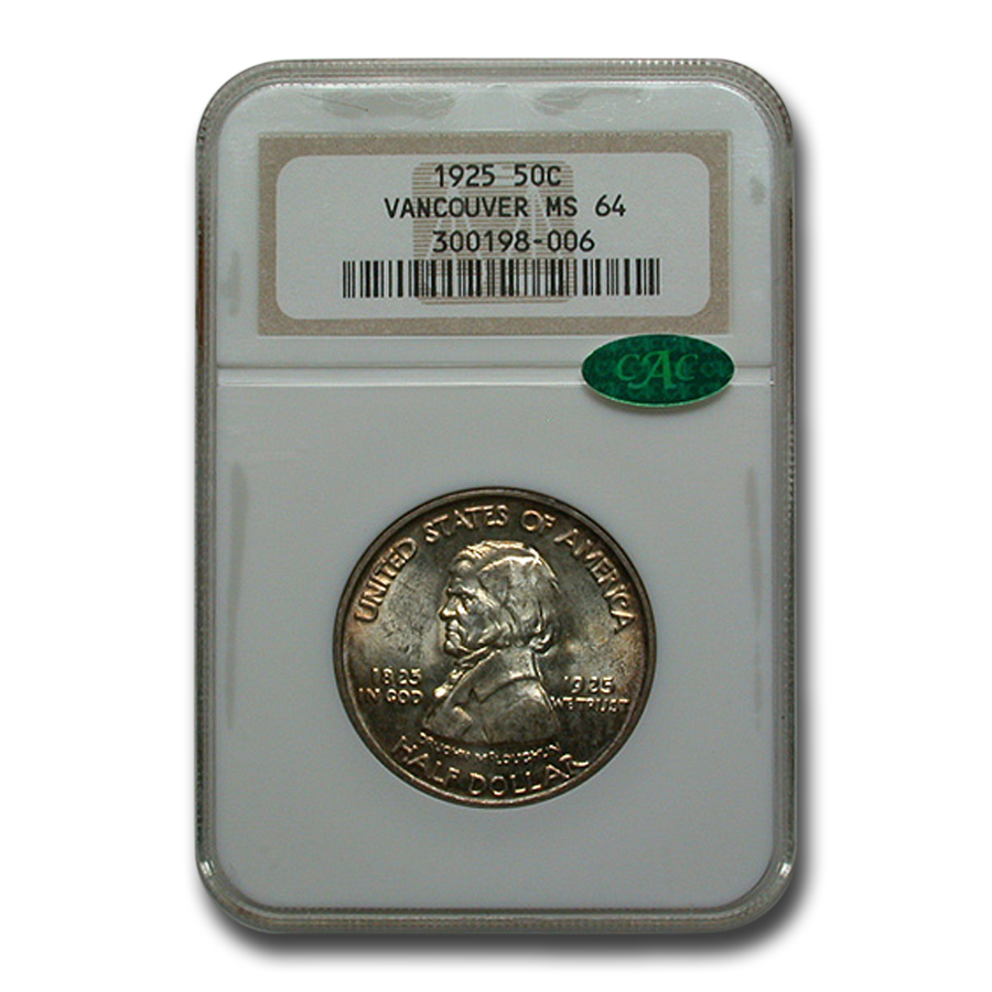 1925 Fort Vancouver Half Dollar MS-64 NGC (CAC)