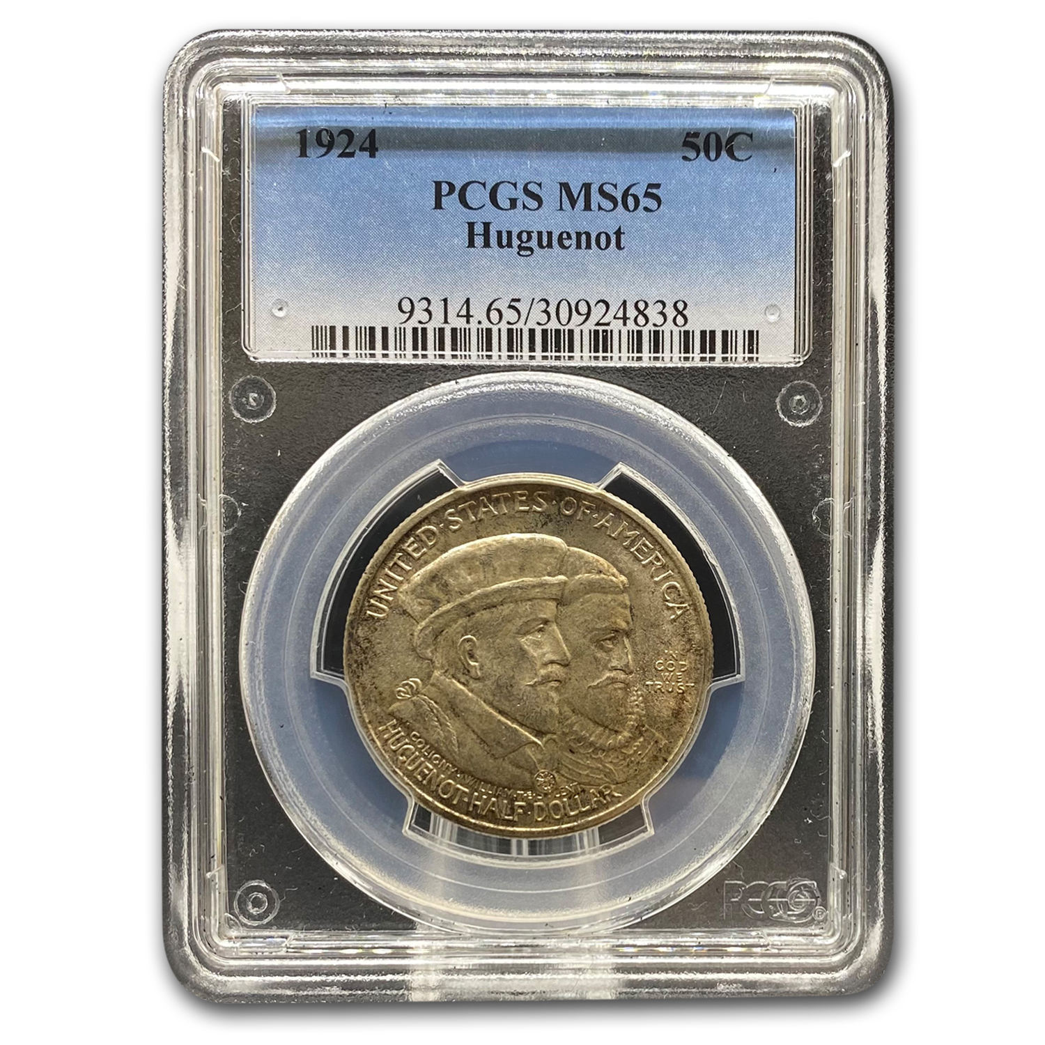 1924 Huguenot Commem Half Dollar MS-65 PCGS