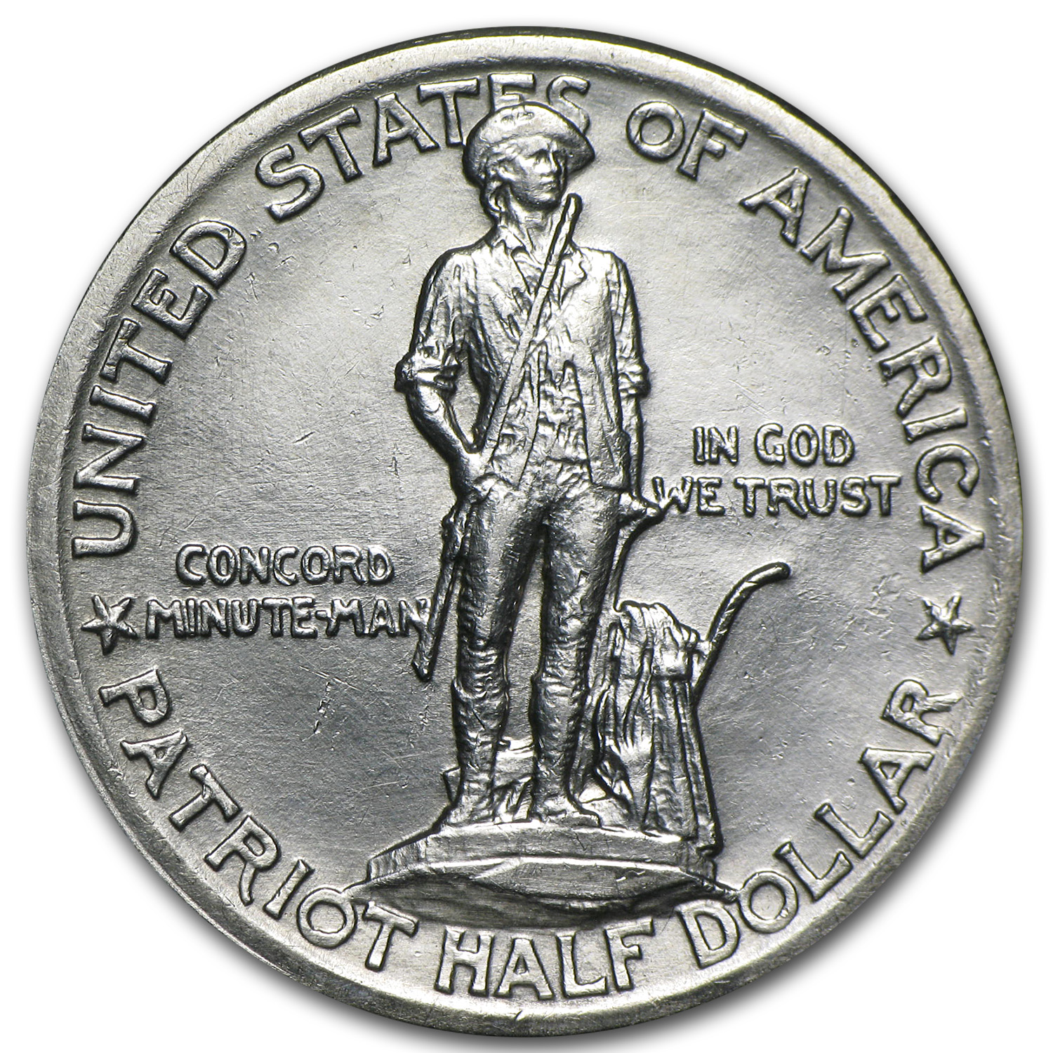 1925 Lexington-Concord Sesquicentennial Half BU (Cleaned)