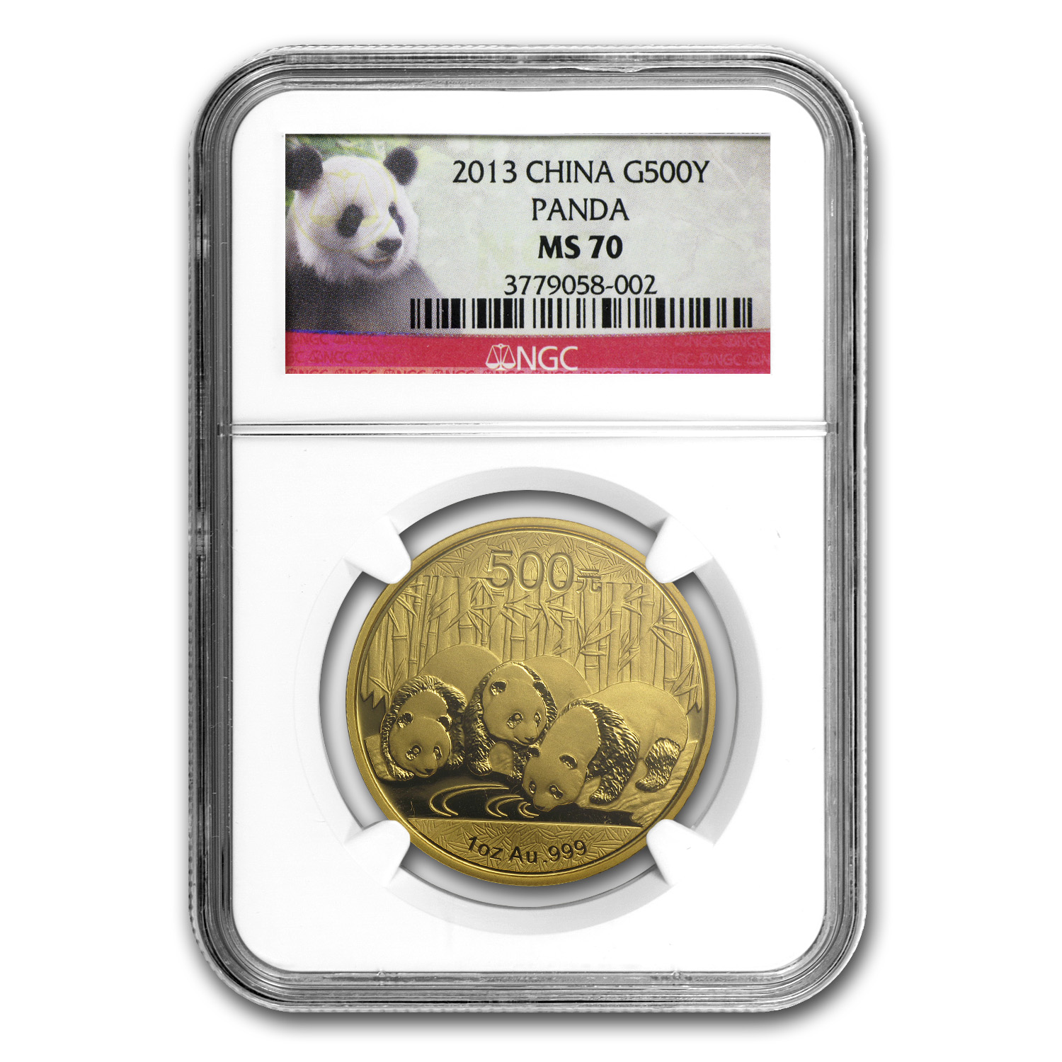 2013 China 1 oz Gold Panda MS-70 NGC