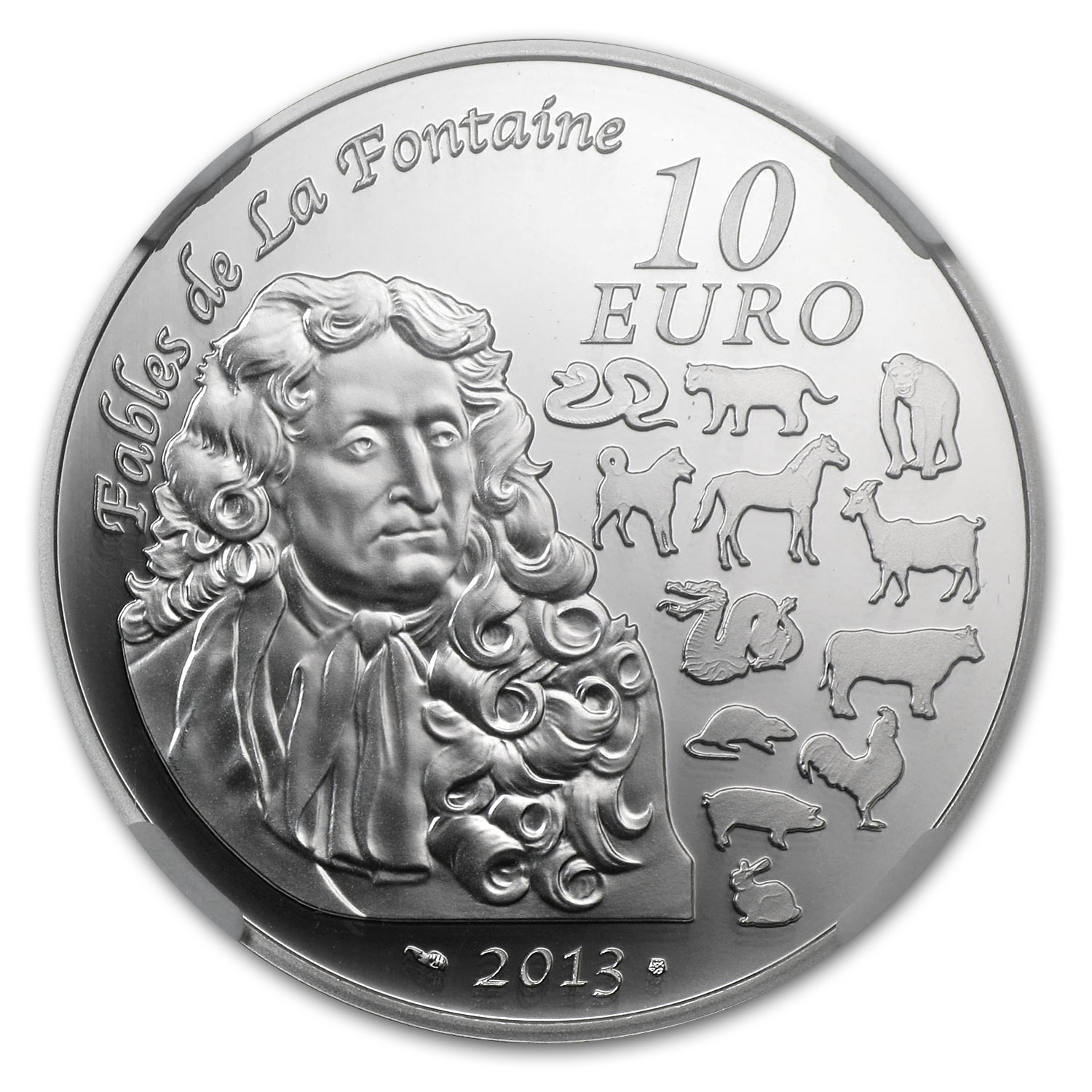 2013 10 Euro Silver Proof Year of the Snake - PF-70 UCAM NGC (ER)