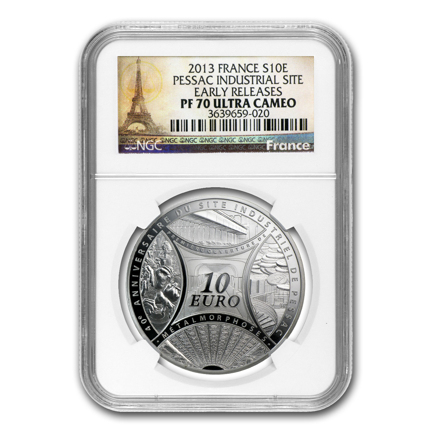 2013 France Silver €10 Pessac's Industrial Site PF-70 NGC (ER)