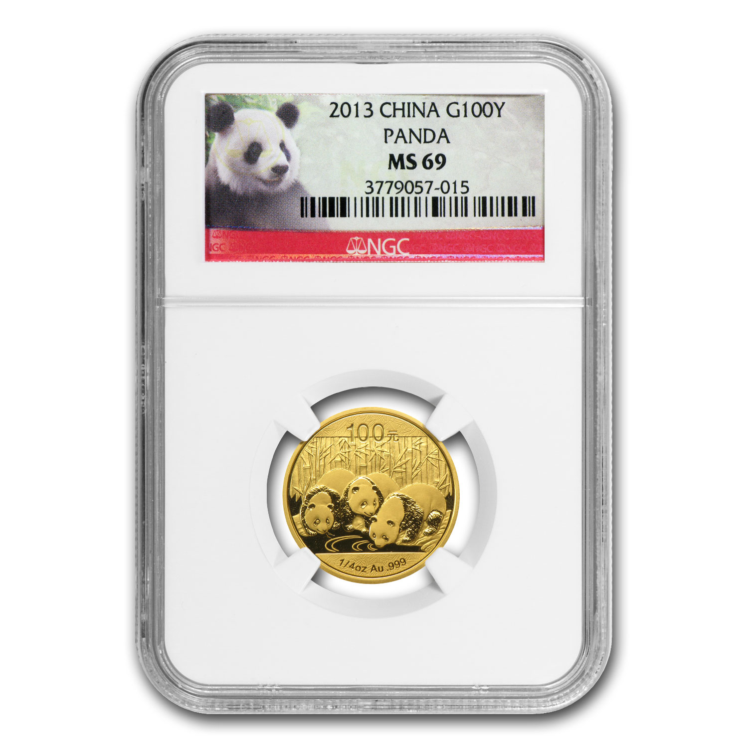 2013 China 1/4 oz Gold Panda MS-69 NGC