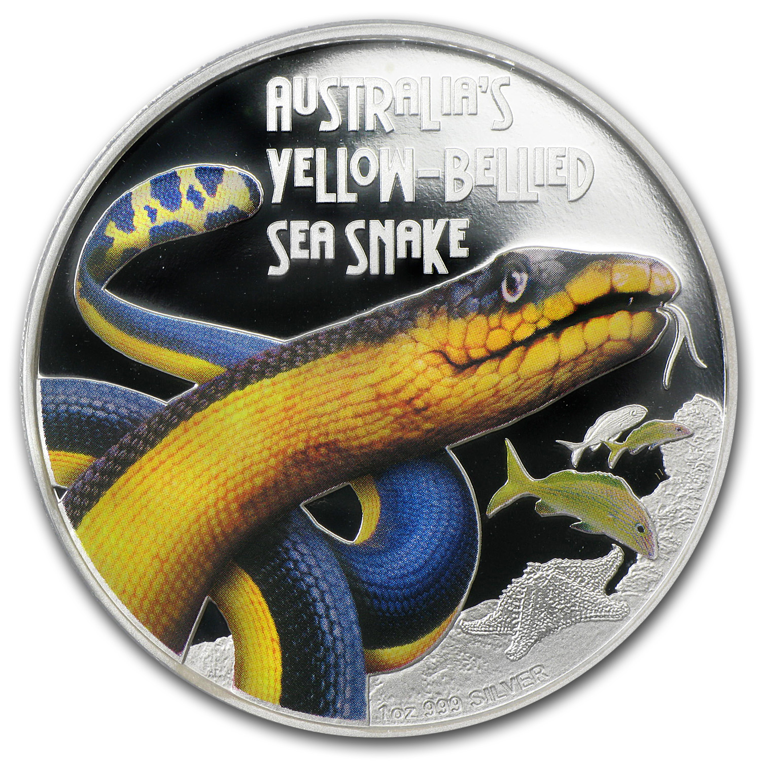 2013 Australia 1 oz Silver Yellow-Bellied Snake PR-70 PCGS