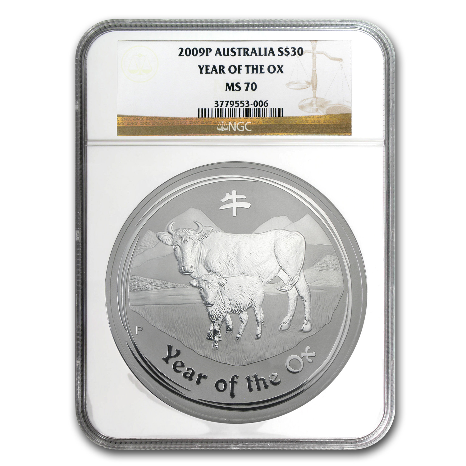 2009 1 Kilo Silver Australian Year of the Ox MS-70 NGC