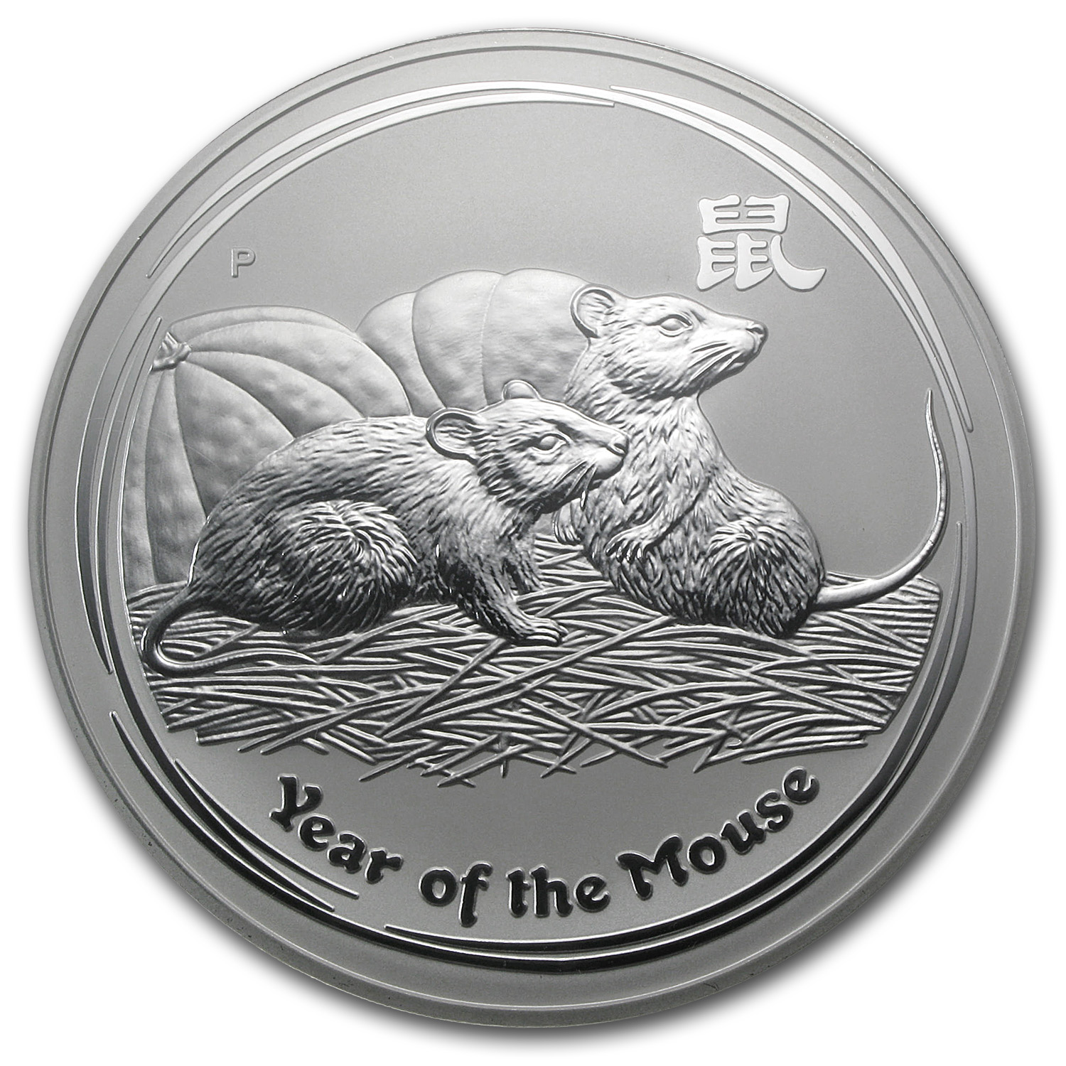 2008 1 Kilo Silver Year of the Mouse Coin (SII) NGC MS-70