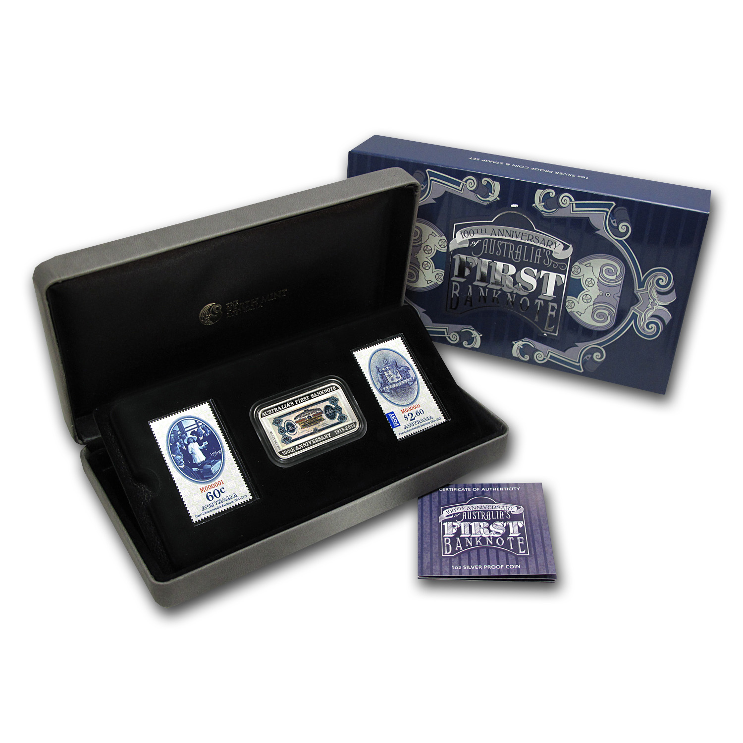 2013 1 oz Proof Silver Australian Banknote & Stamp Set