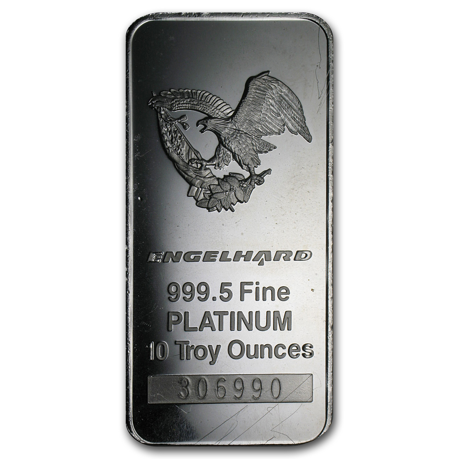 10 oz Platinum Bar - Engelhard (.9995 Fine, 'Eagle', No Assay)