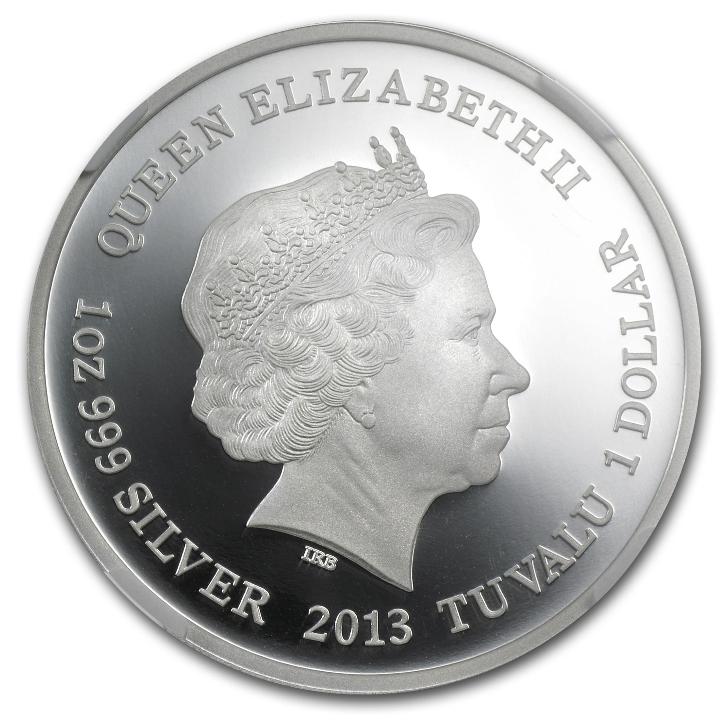 2013 Tuvalu Silver $1 The Frilled Neck Lizard PF-70 (ER)