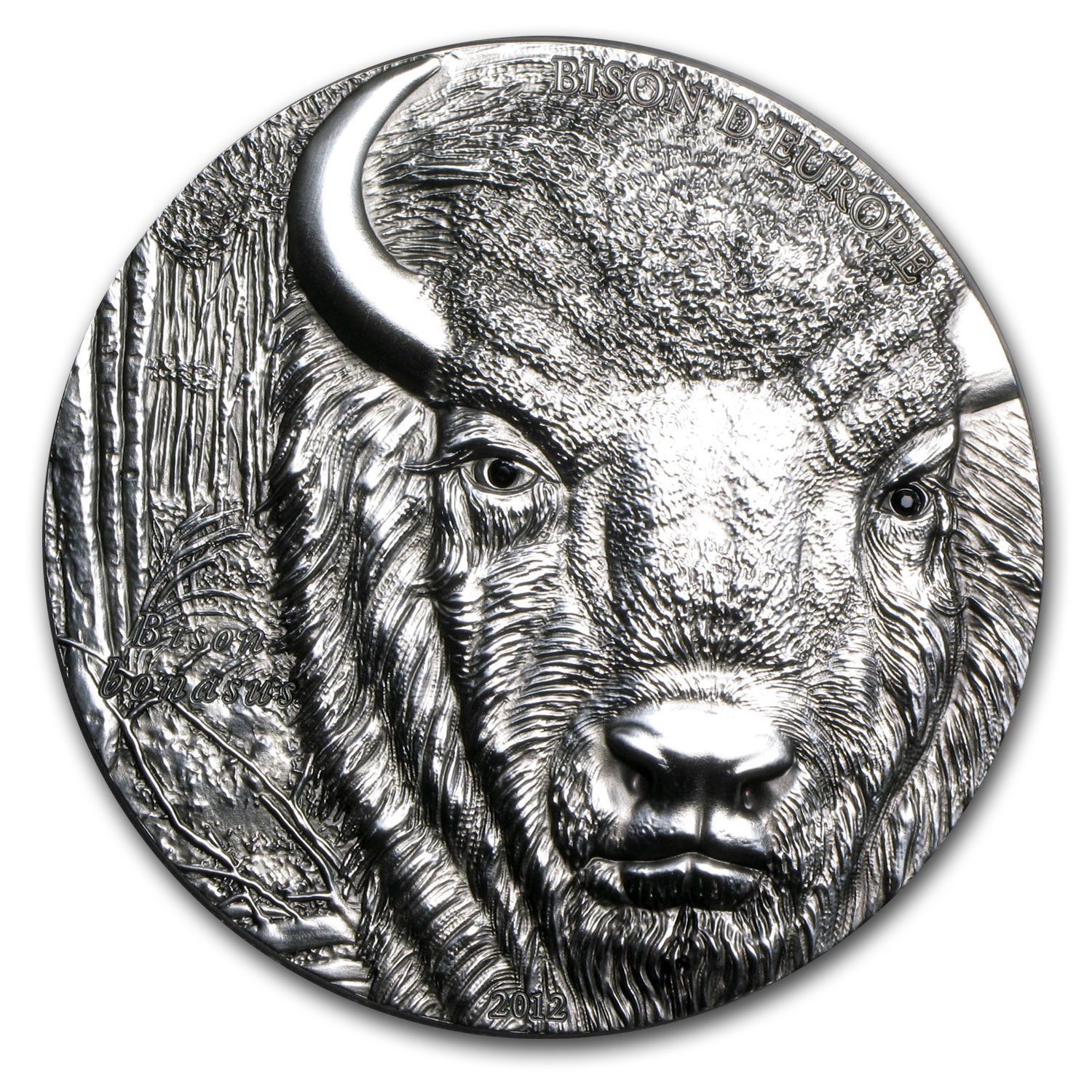 Togo 2012 2 oz Silver 1,500 Francs CFA European Bison