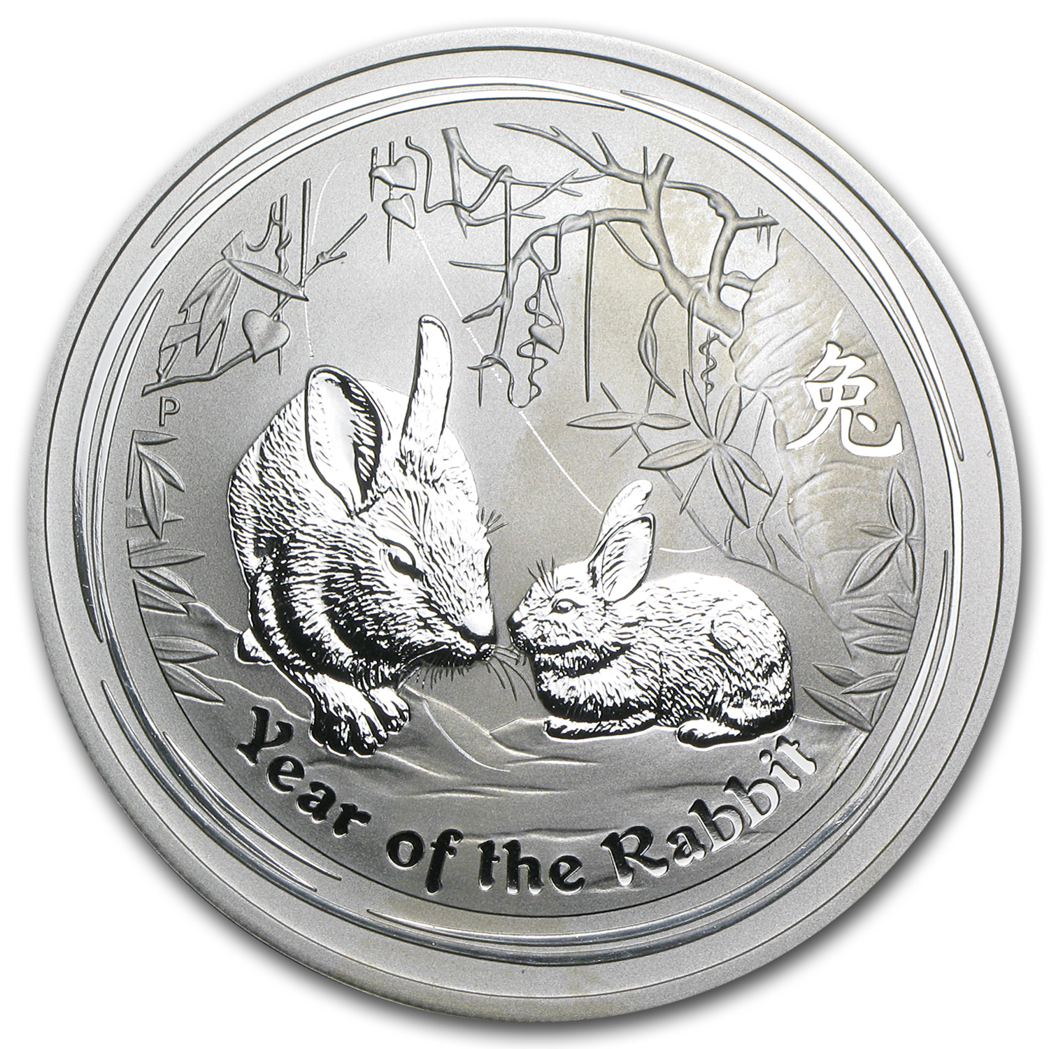 2011 2 oz Silver Australian Year of the Rabbit Coin (Abrasions)