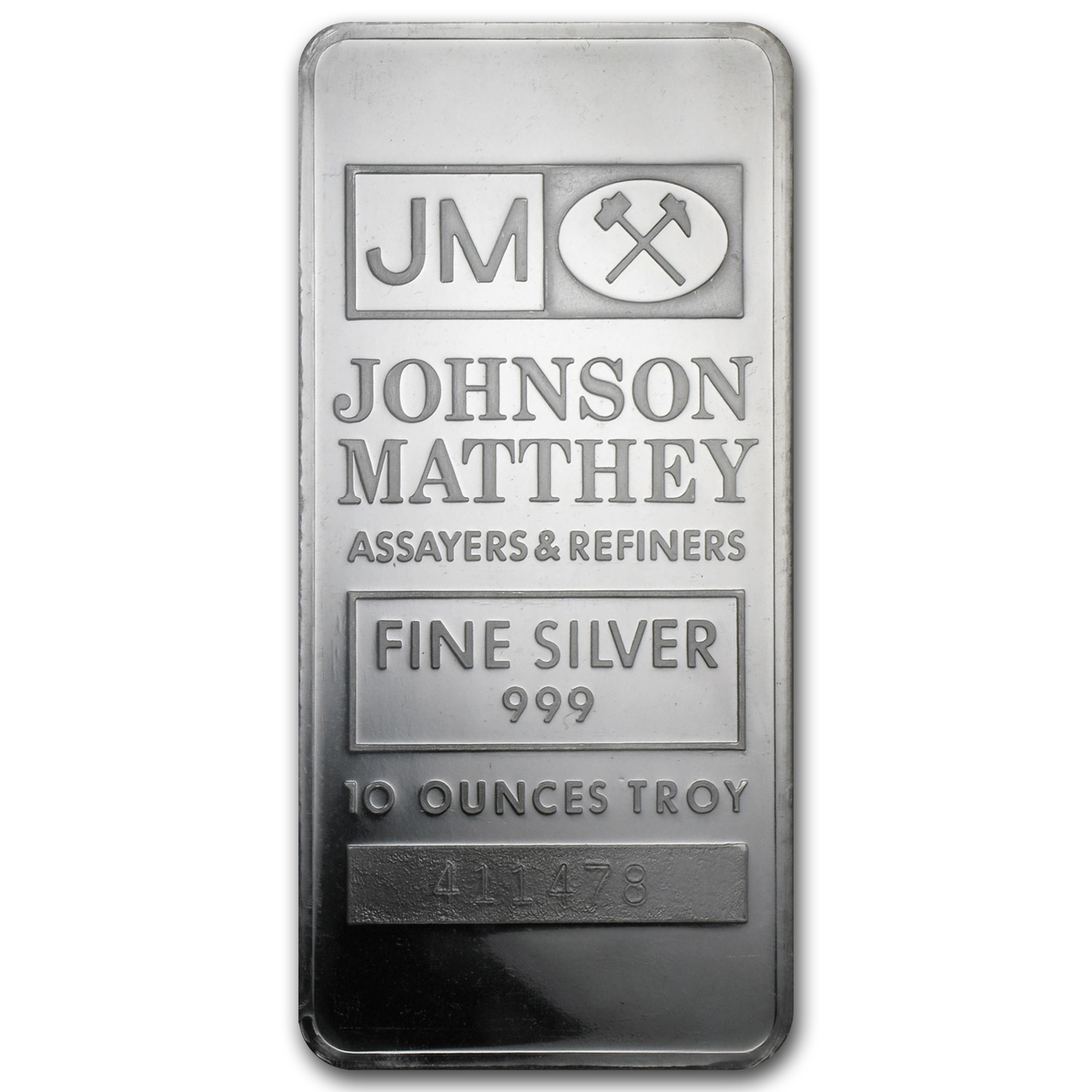 10 oz Silver Bar - Johnson Matthey (Sealed/Very Nice)