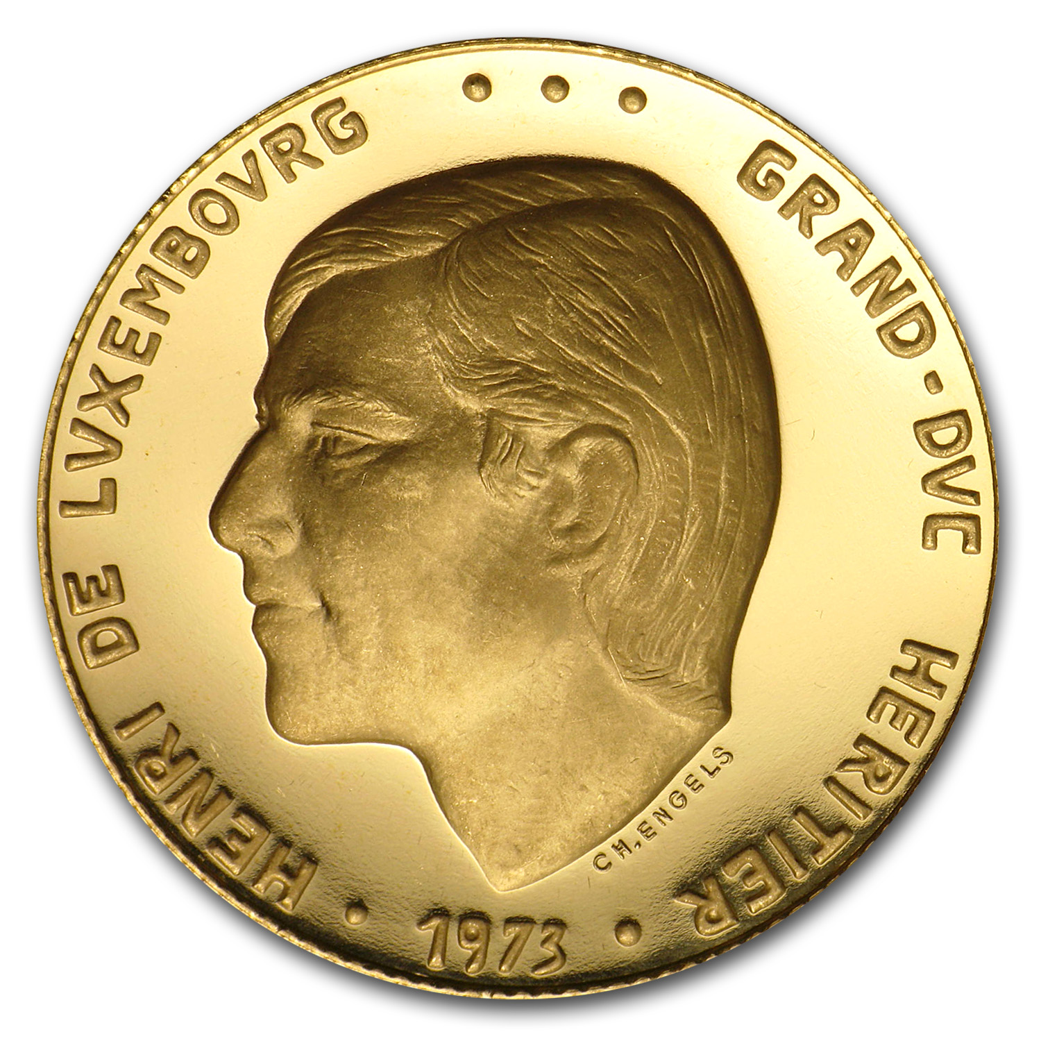 1973 Luxembourg Gold Medal Grand Duke Henri