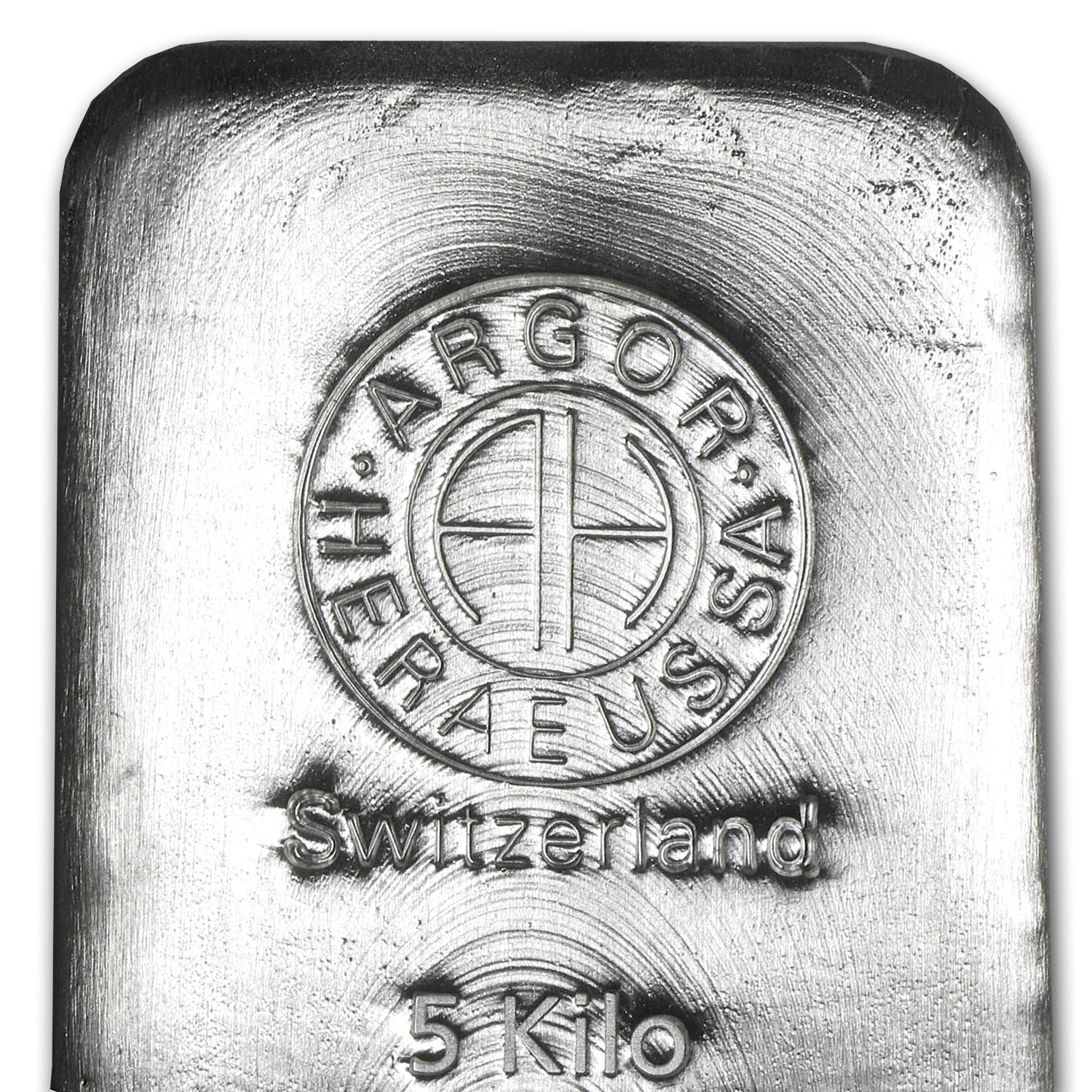 5000 gram Silver Bar - Argor/Heraeus (Poured)
