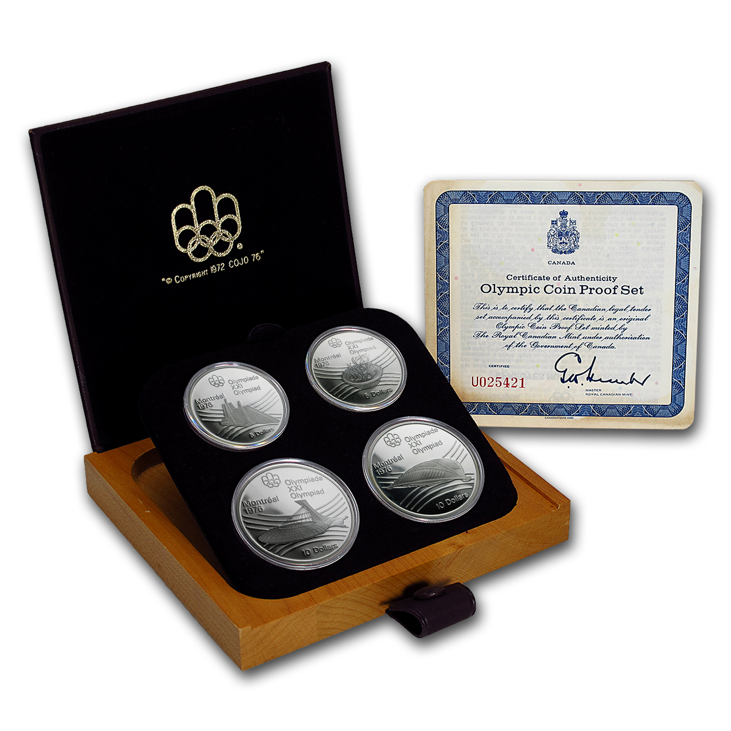 1976 Canada 4-Coin Silver Montreal Olympic Games Proof Set