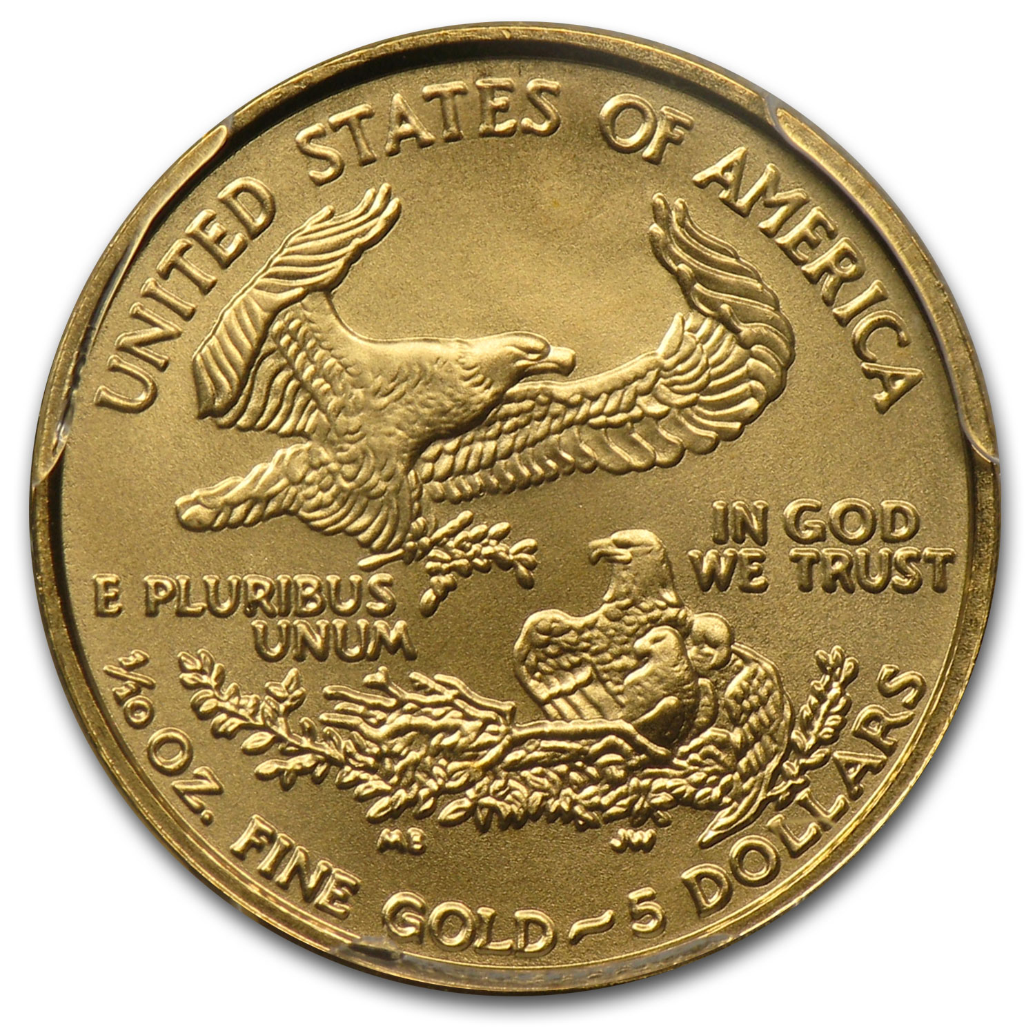 2006-W 1/10 oz Burnished Gold Eagle MS-70 PCGS (West Point Label)