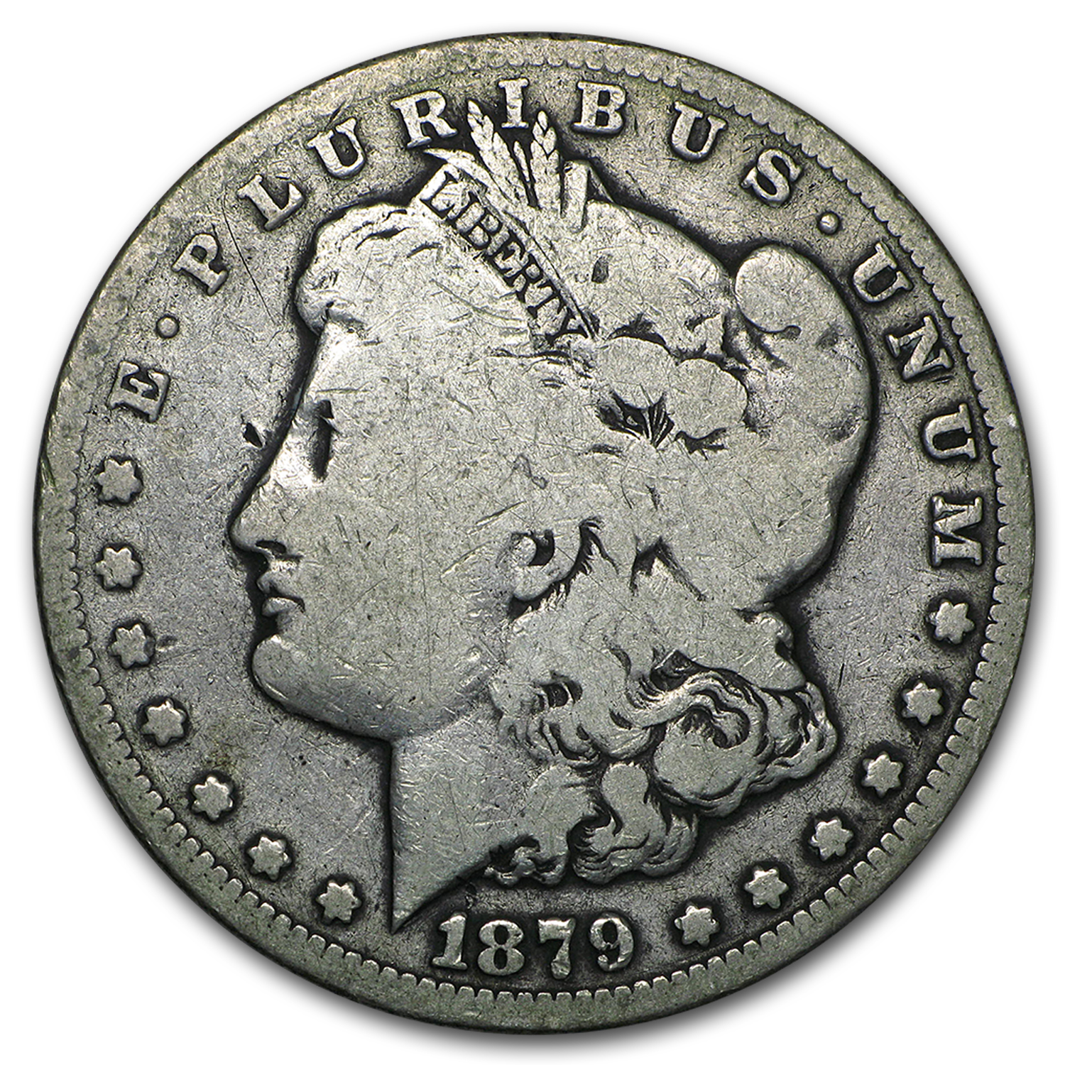 1879-CC Morgan Dollar Clear CC VG